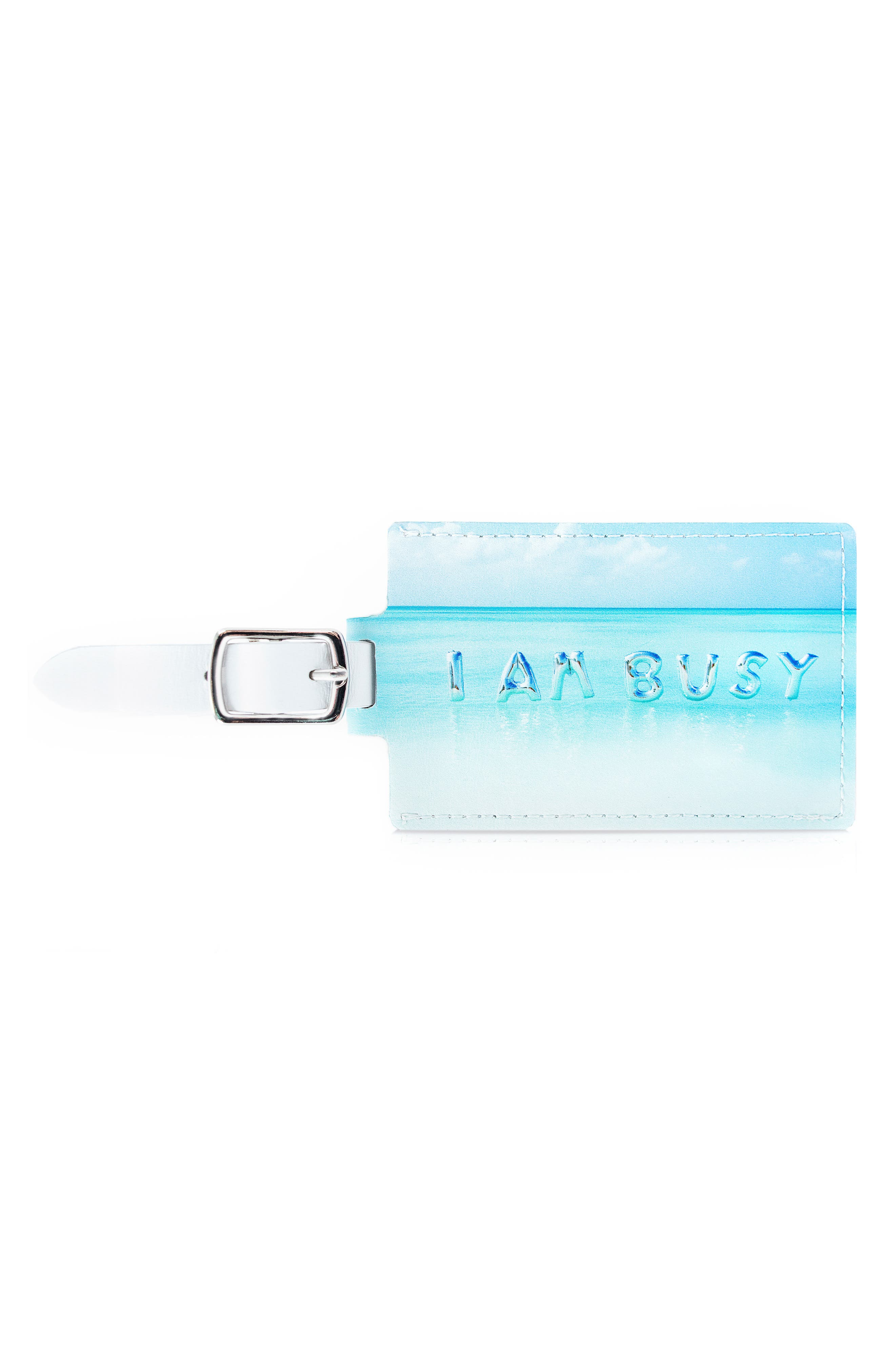 Main Image - Gray Malin I Am Busy Luggage Tag