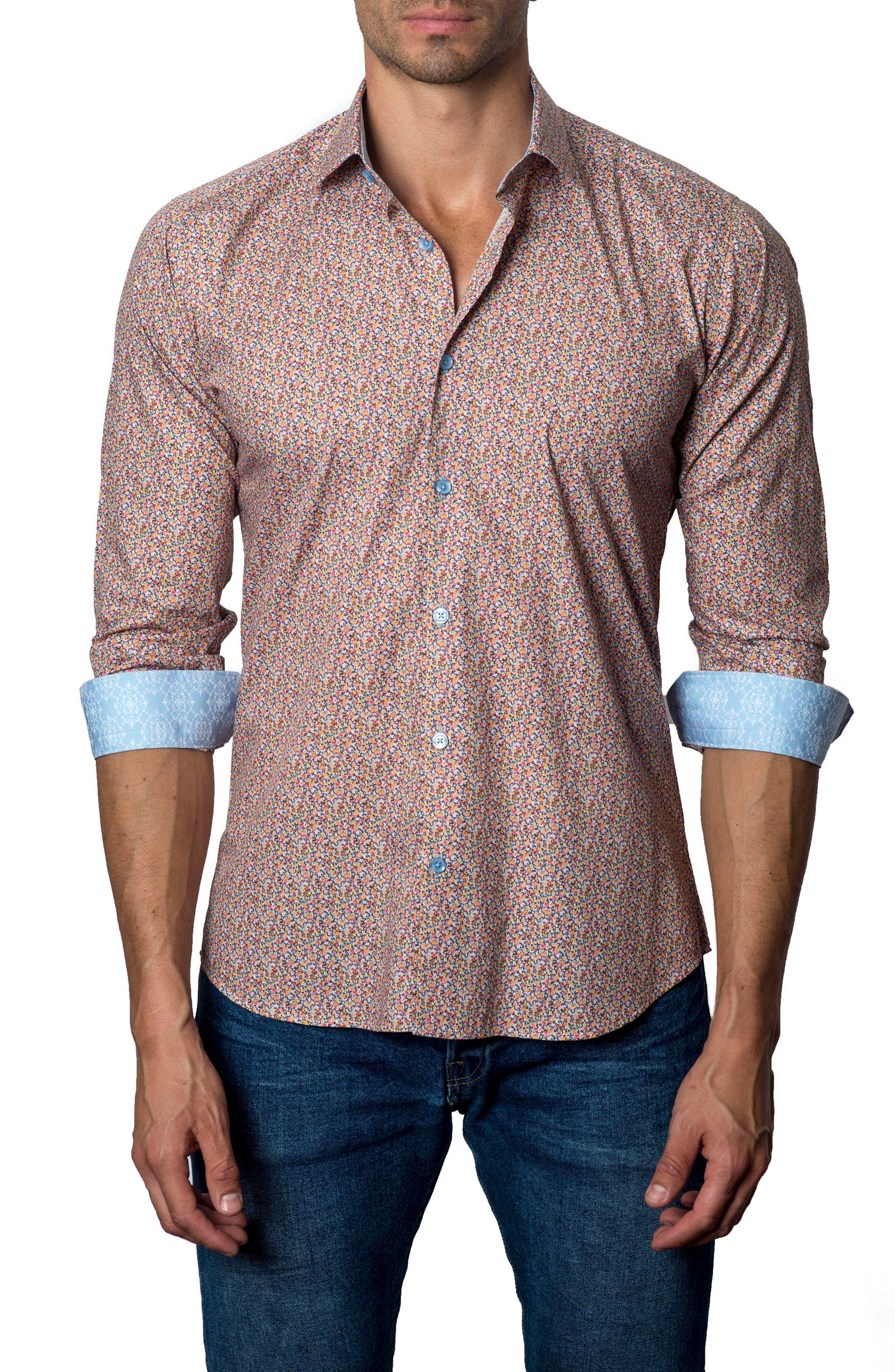 Main Image - Jared Lang Floral Sport Shirt