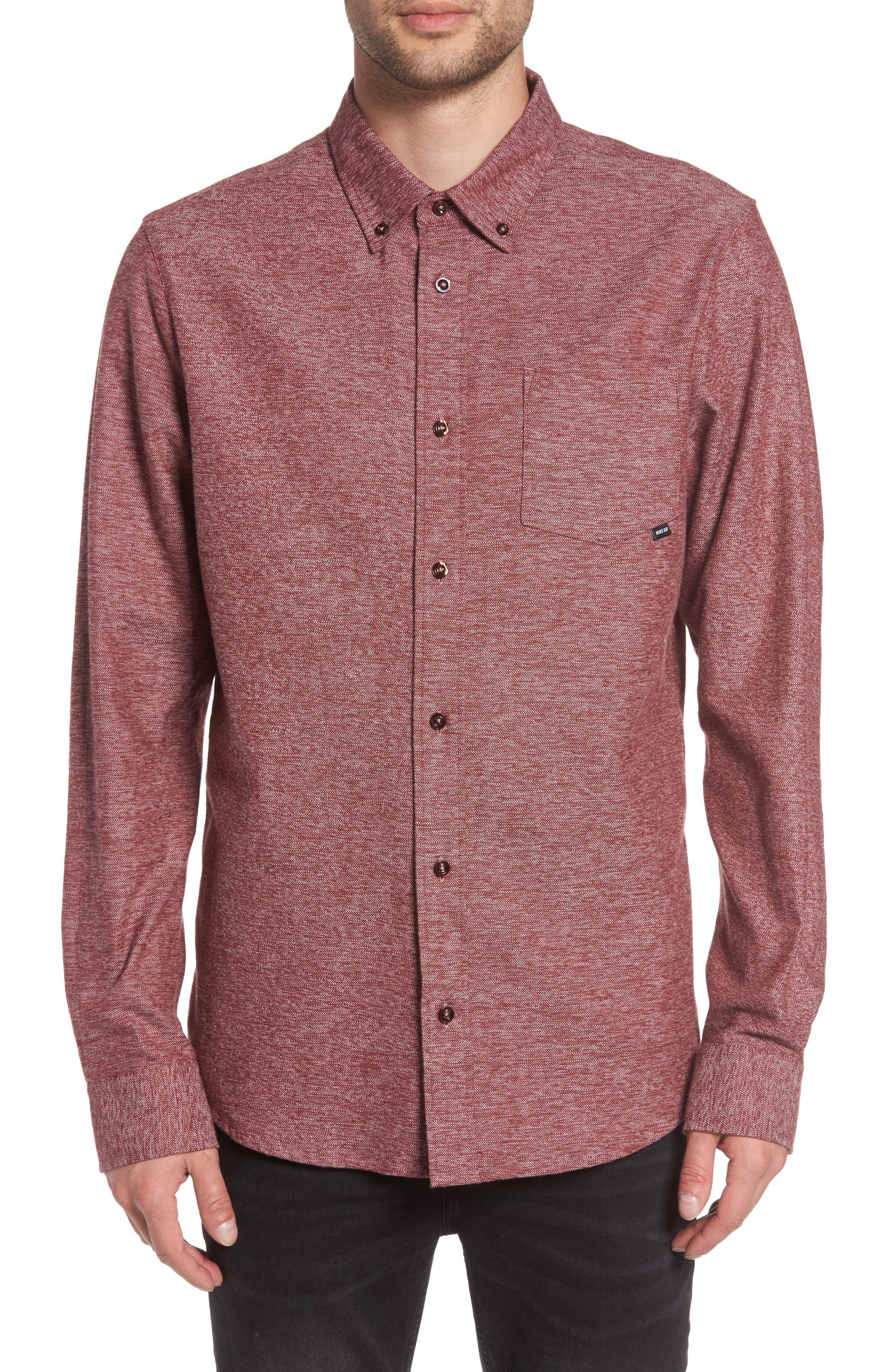 Holgate Flex Shirt,                         Main,                         color, Dark Team Red