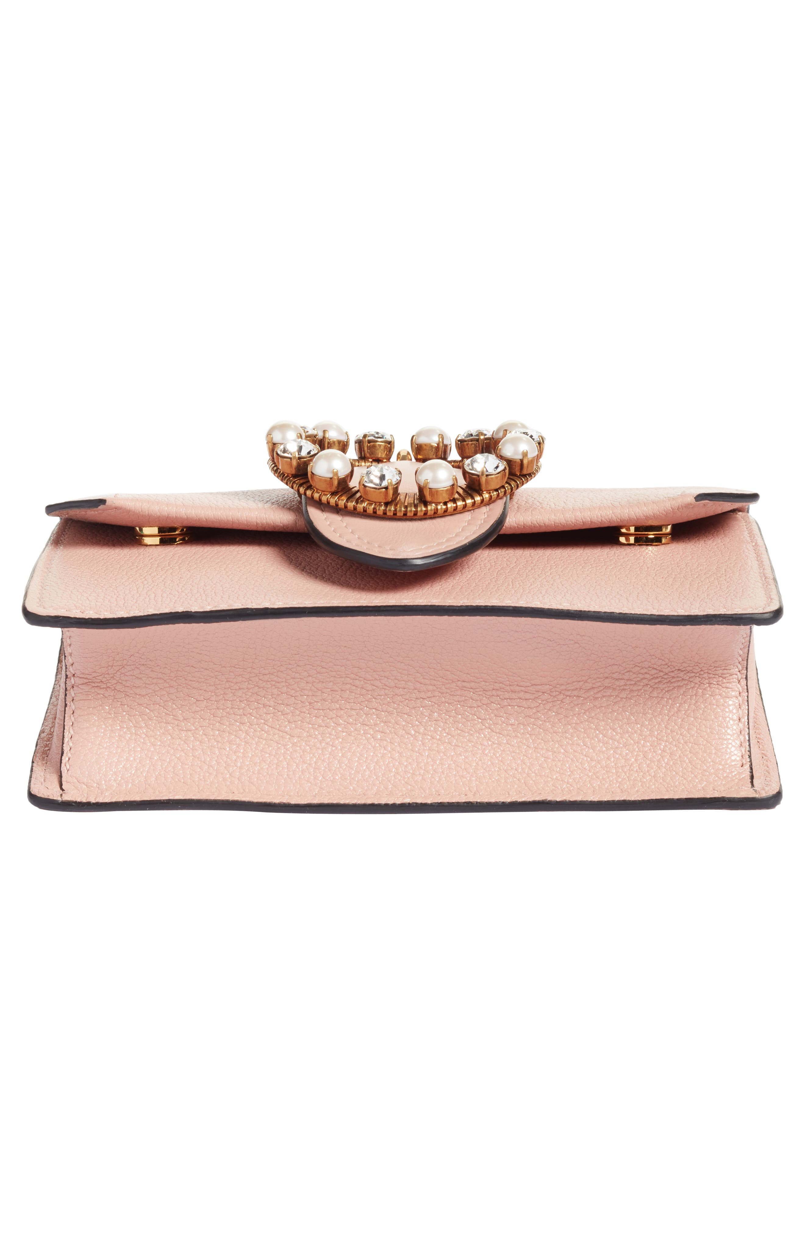 Lady Madras Crystal Embellished Leather Crossbody Bag,                             Alternate thumbnail 6, color,                             Orchidea