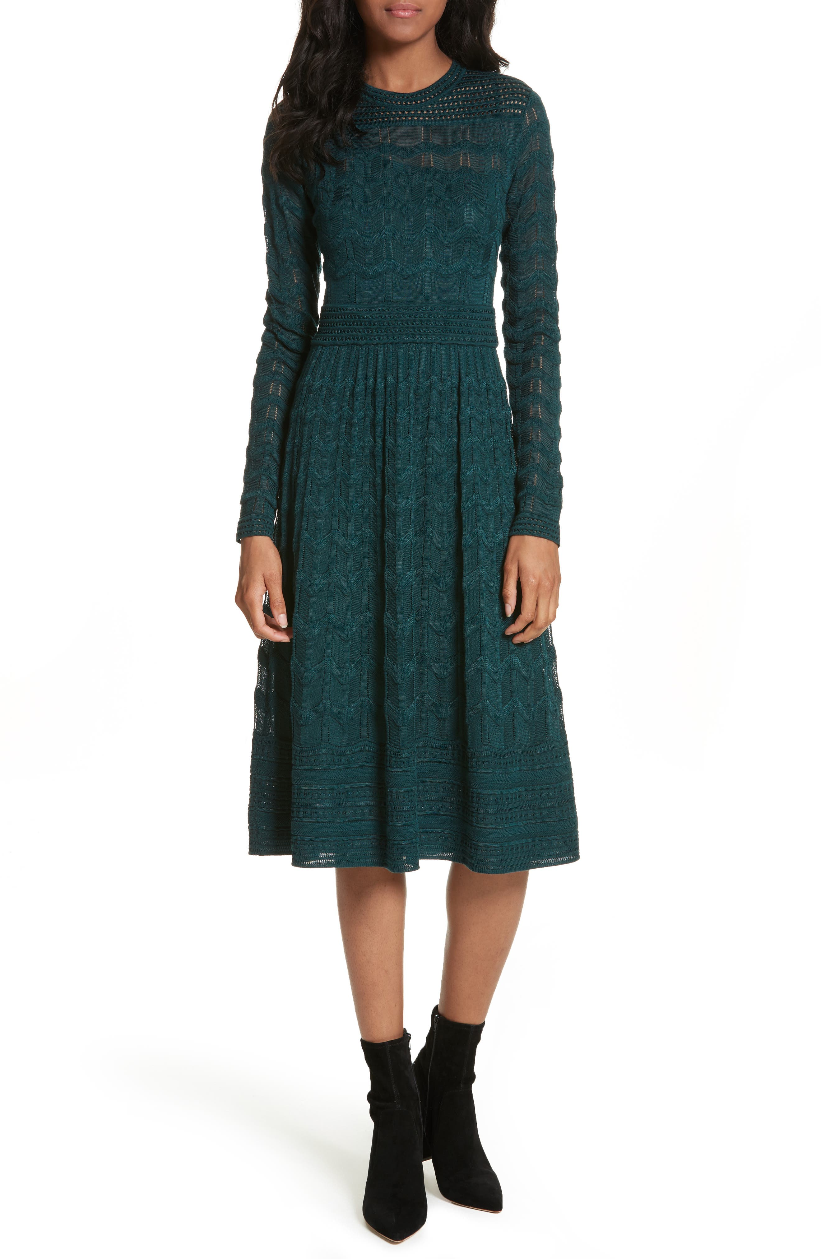 Alternate Image 1 Selected - M Missoni Mesh Detail A-Line Dress