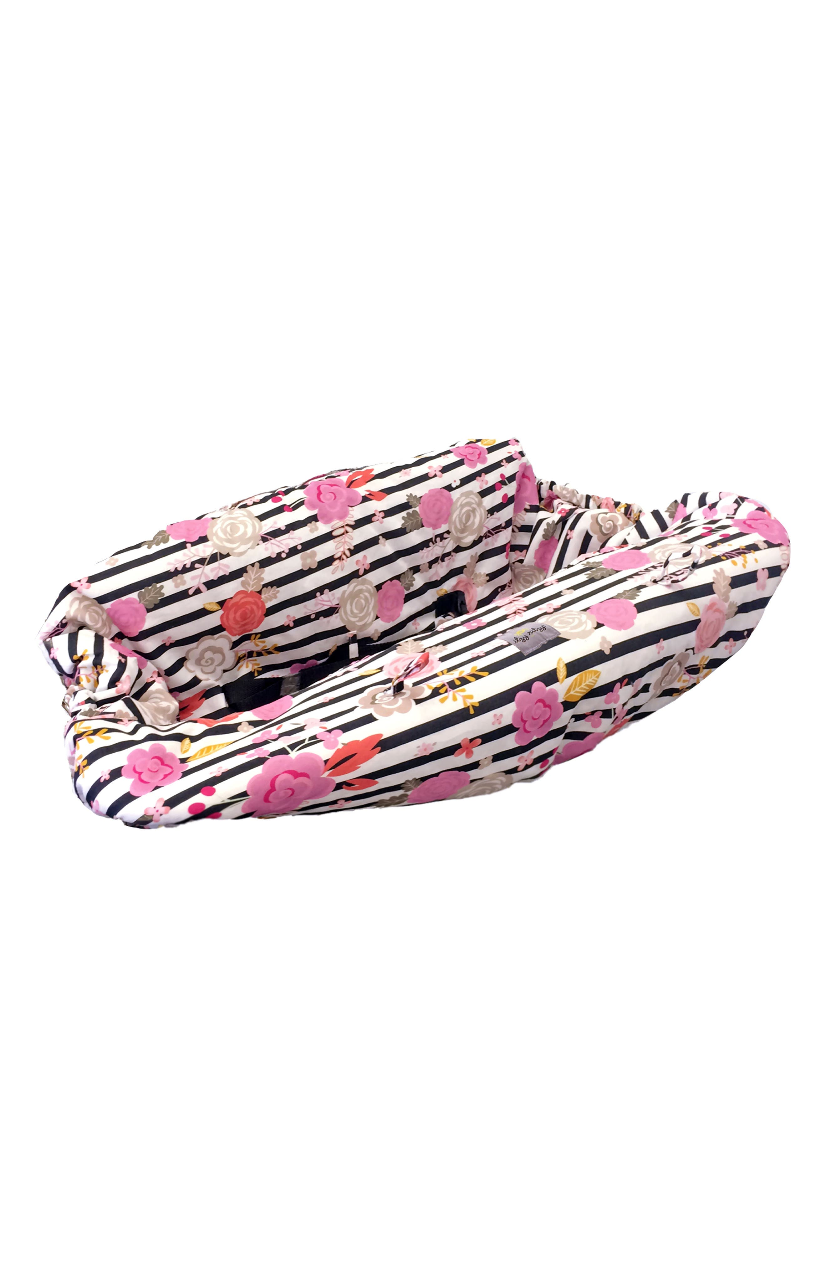 Sitzy Shopping Cart/Highchair Cover,                         Main,                         color, Floral Stripe