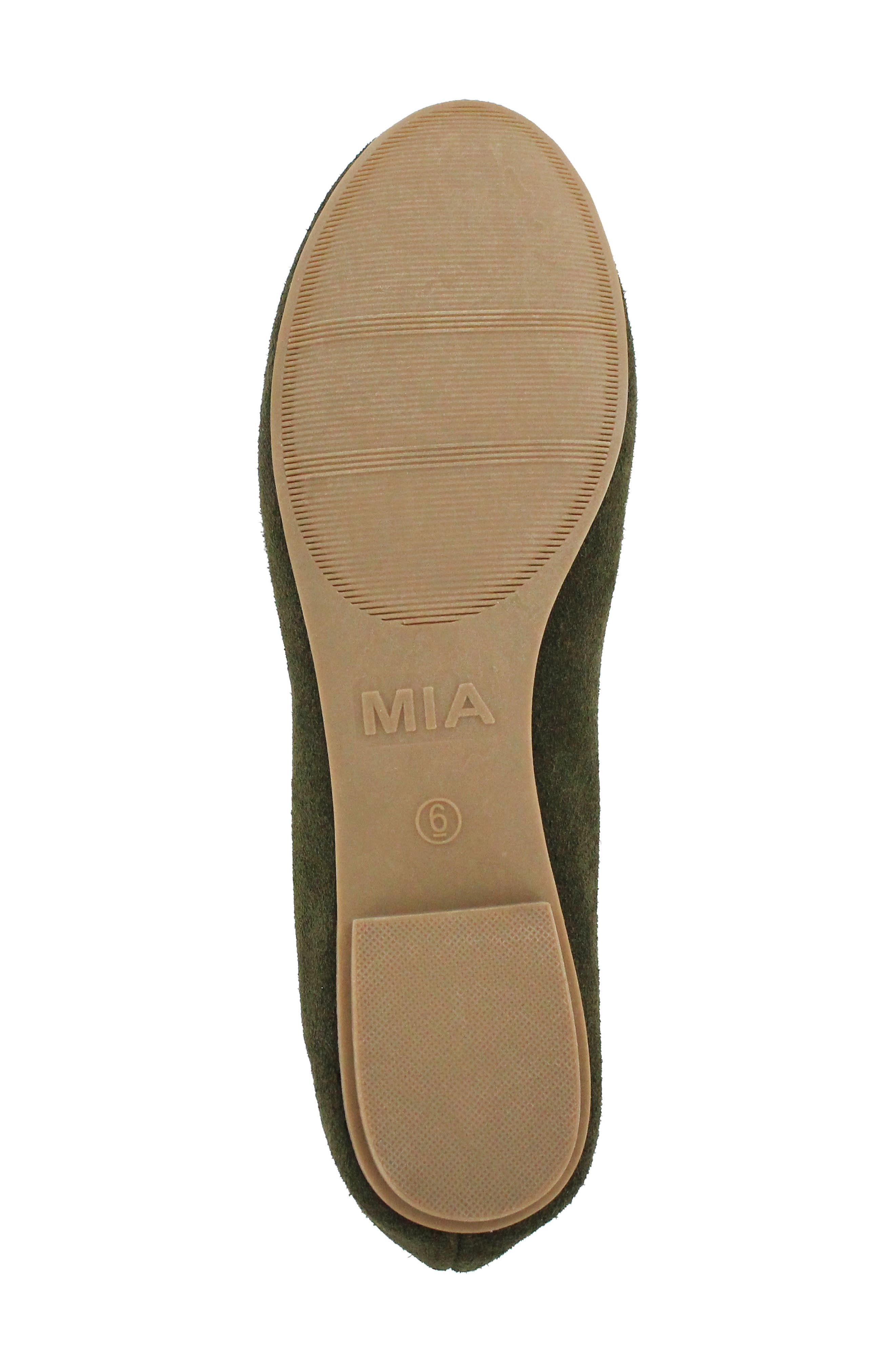 Gianna Scalloped Flat,                             Alternate thumbnail 6, color,                             Olive