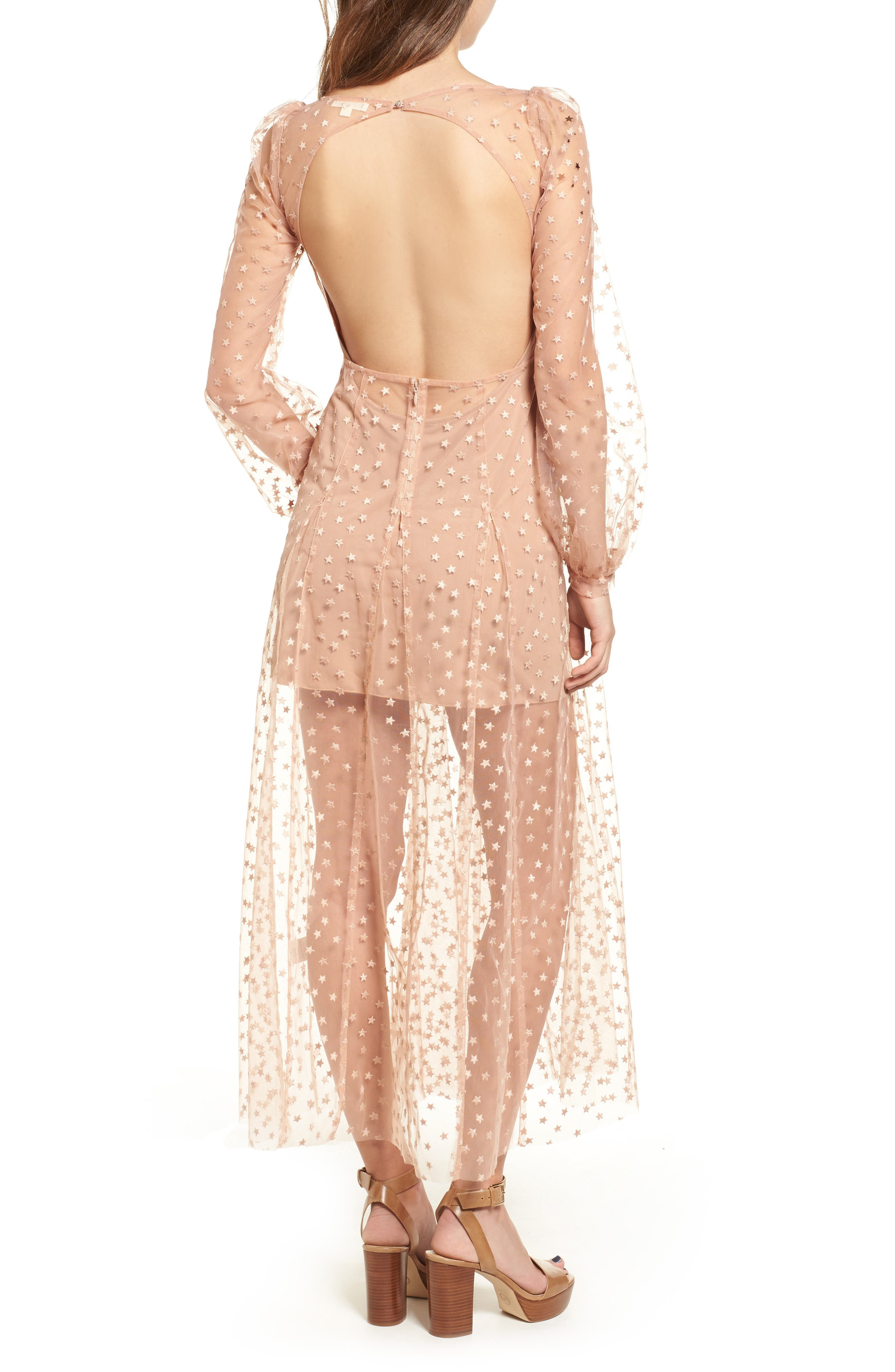Alternate Image 2  - For Love & Lemons All That Glitters Midi Dress