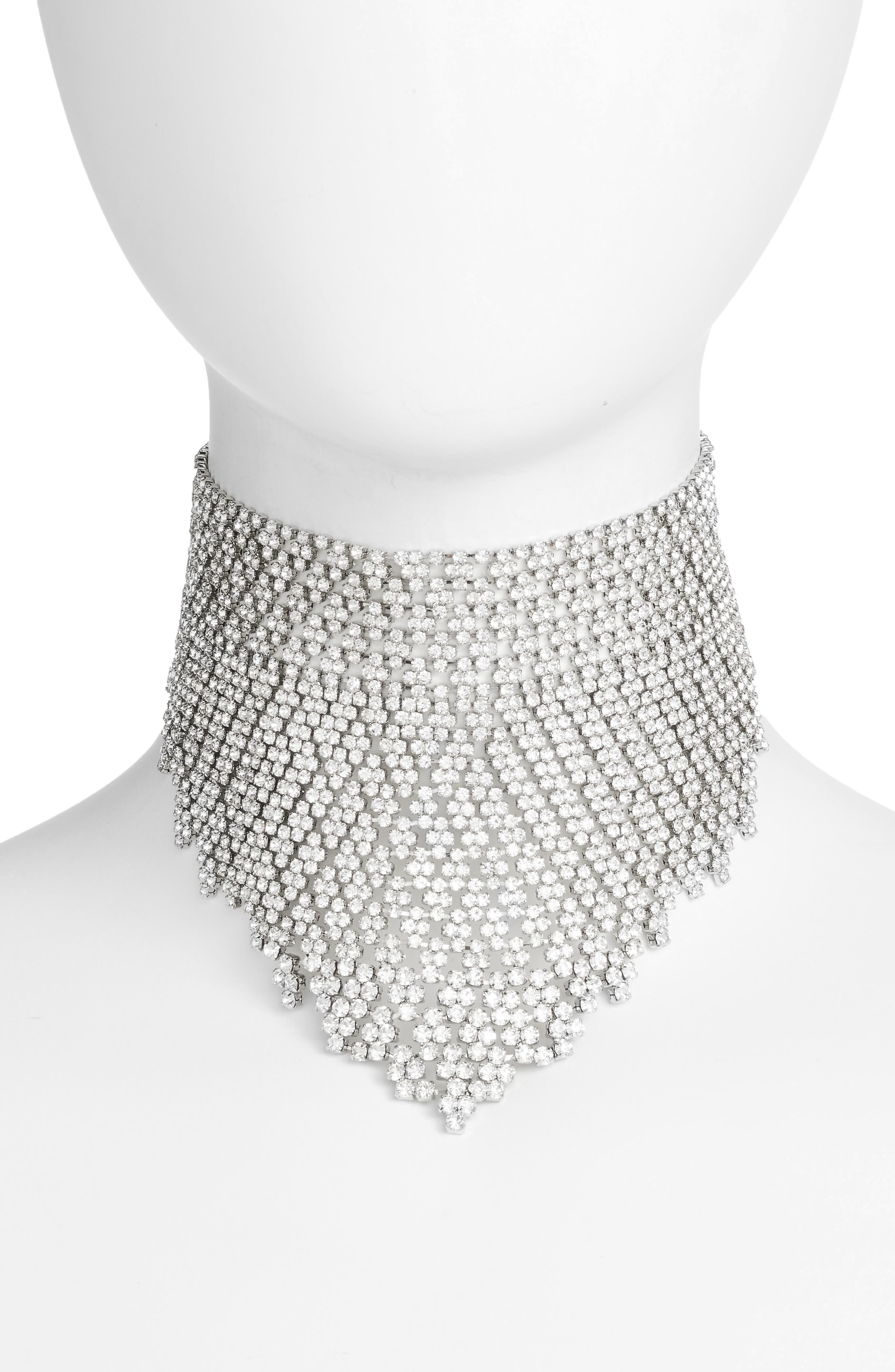 Alternate Image 1 Selected - CRISTABELLE Graduated Crystal Choker
