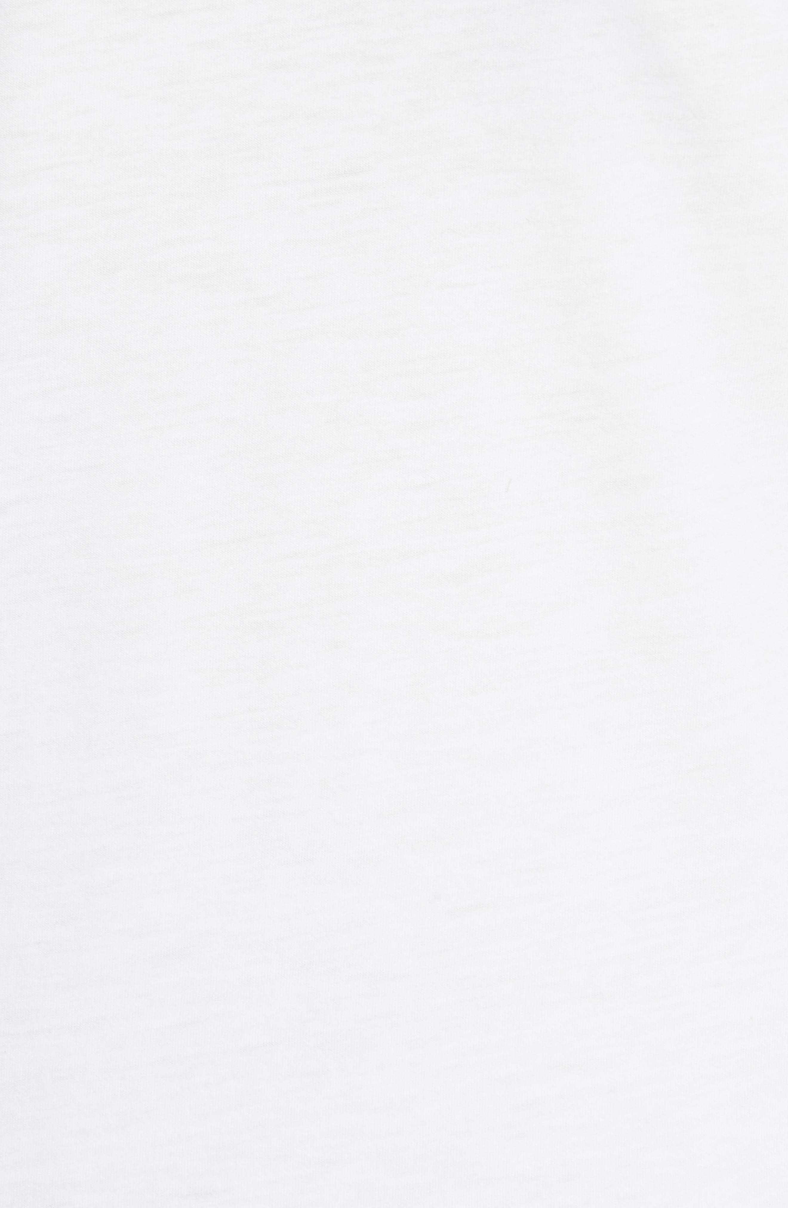 Madya Plume Jersey Tee,                             Alternate thumbnail 5, color,                             White