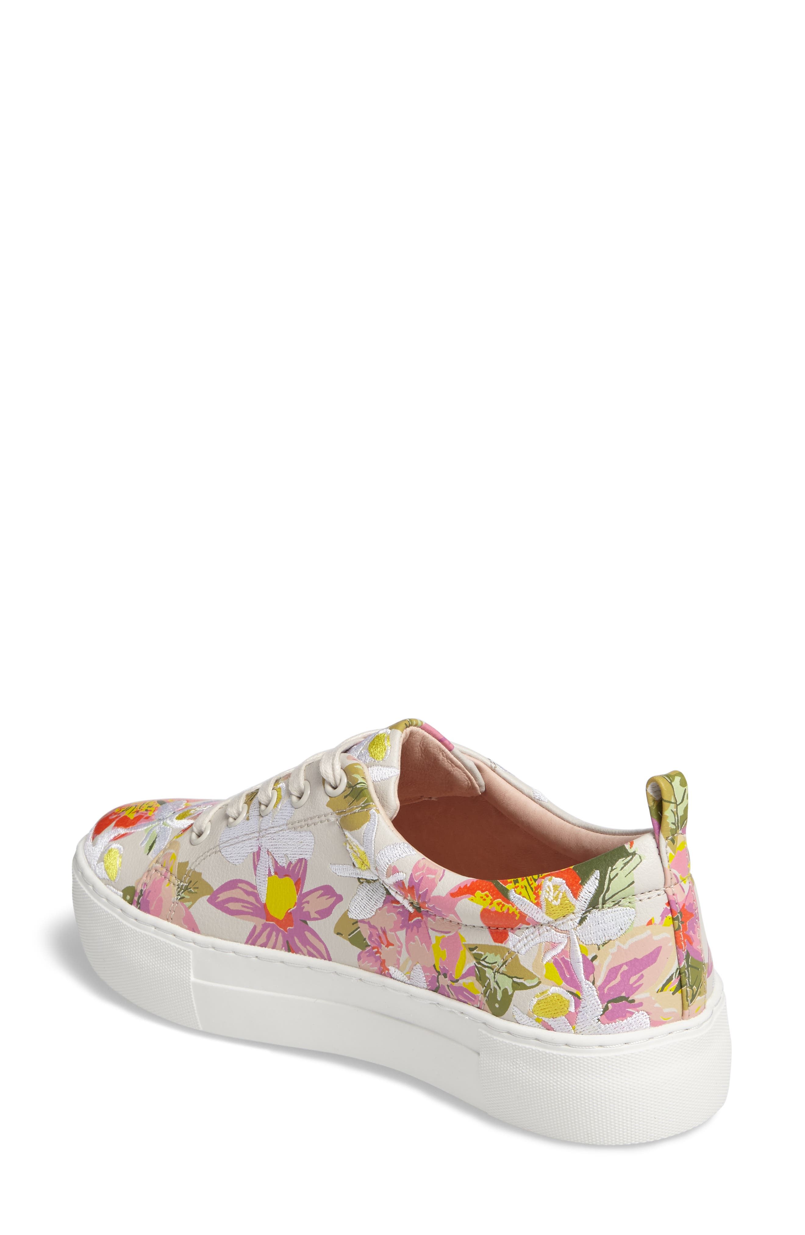 Appy Embroidered Platform Sneaker,                             Alternate thumbnail 2, color,                             Pink Multi Fabric
