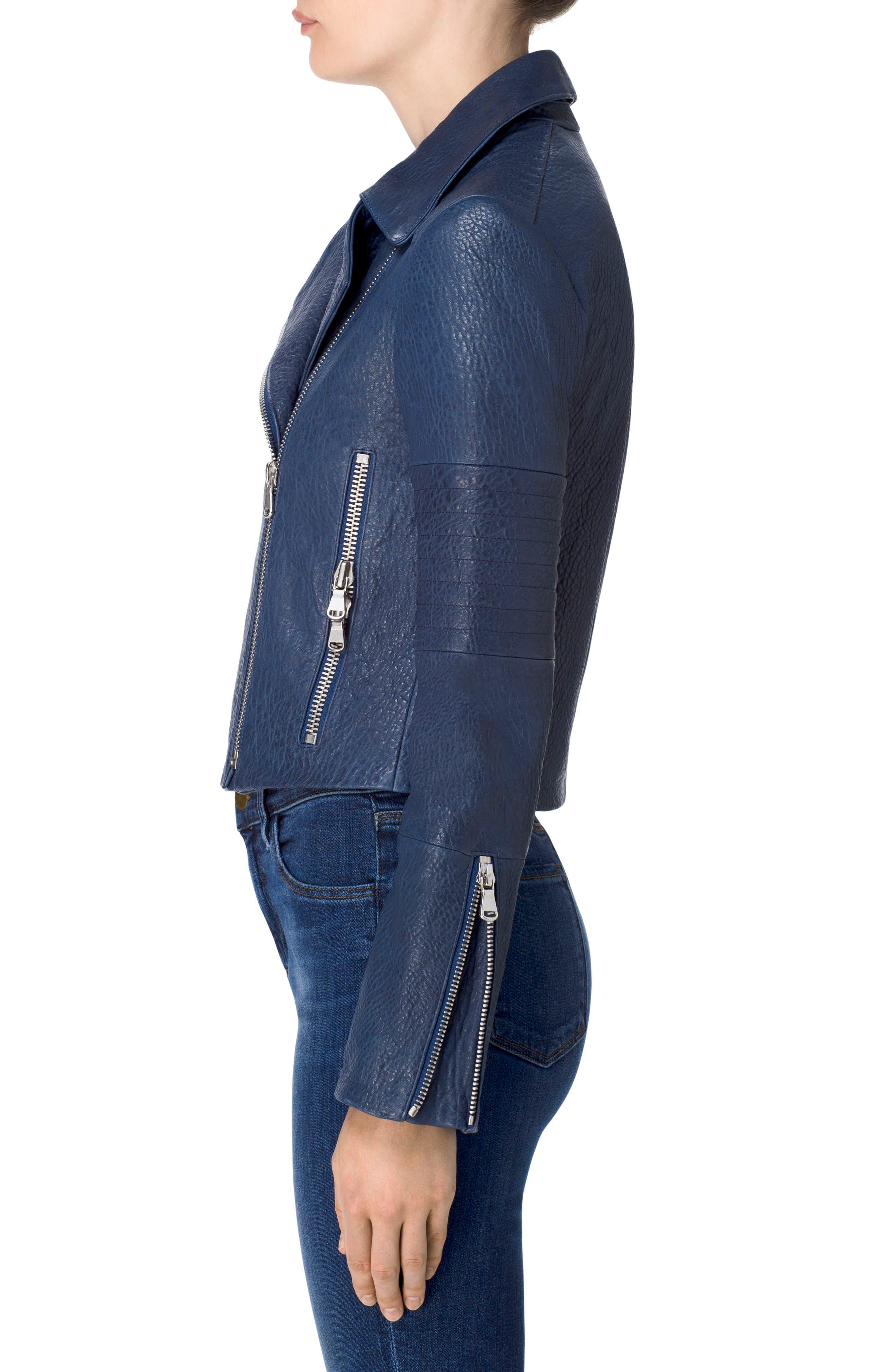 Alternate Image 3  - J Brand Aiah Leather Moto Jacket