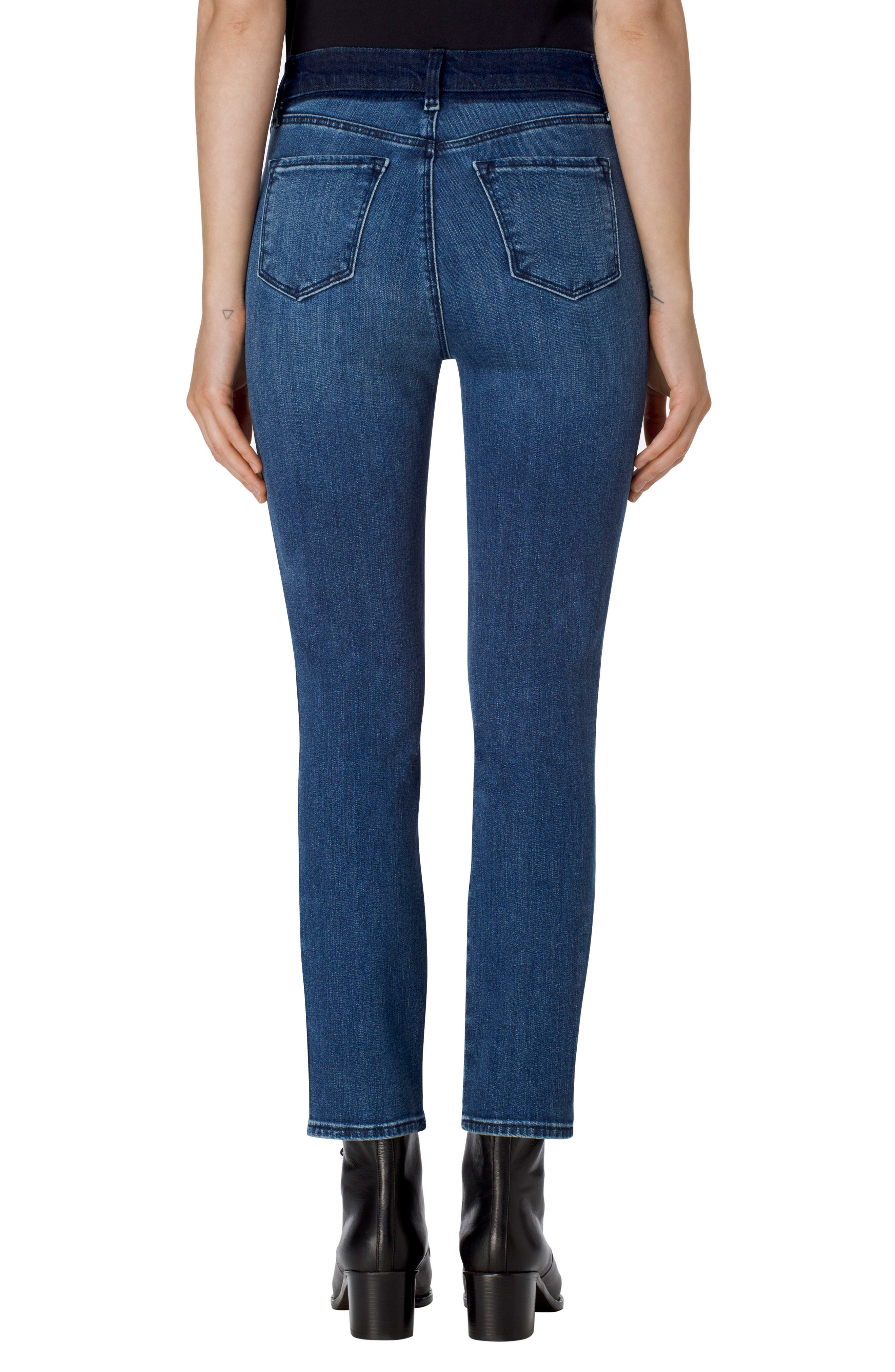 Ruby High Waist Crop Skinny Jeans,                             Alternate thumbnail 2, color,                             Point Blank