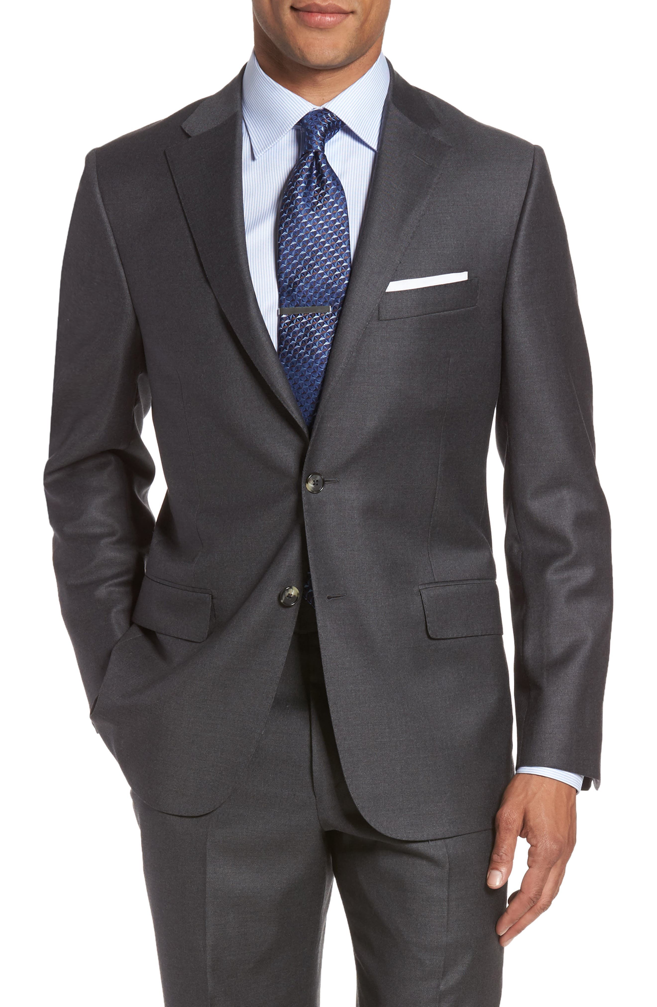 Alternate Image 5  - Hickey Freeman Classic B Fit Loro Piana Wool Suit