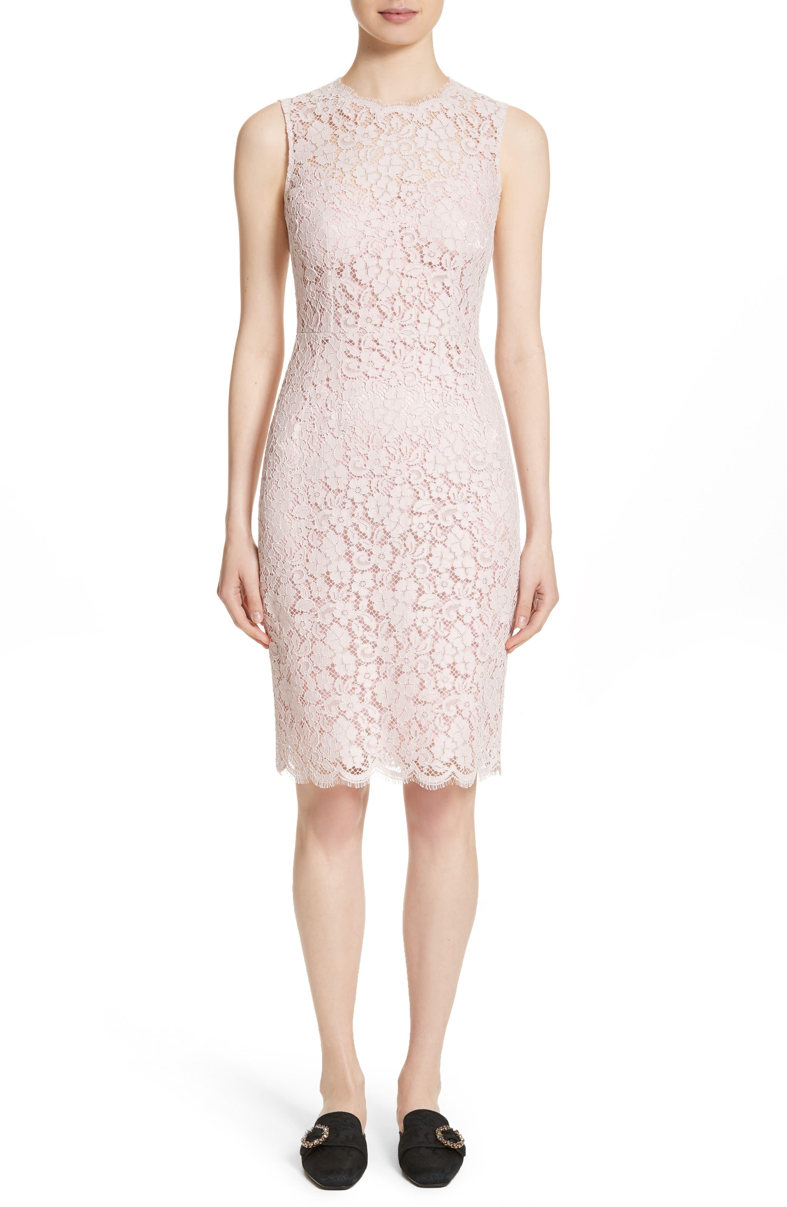 Alternate Image 1 Selected - Dolce&Gabbana Lace Sheath Dress