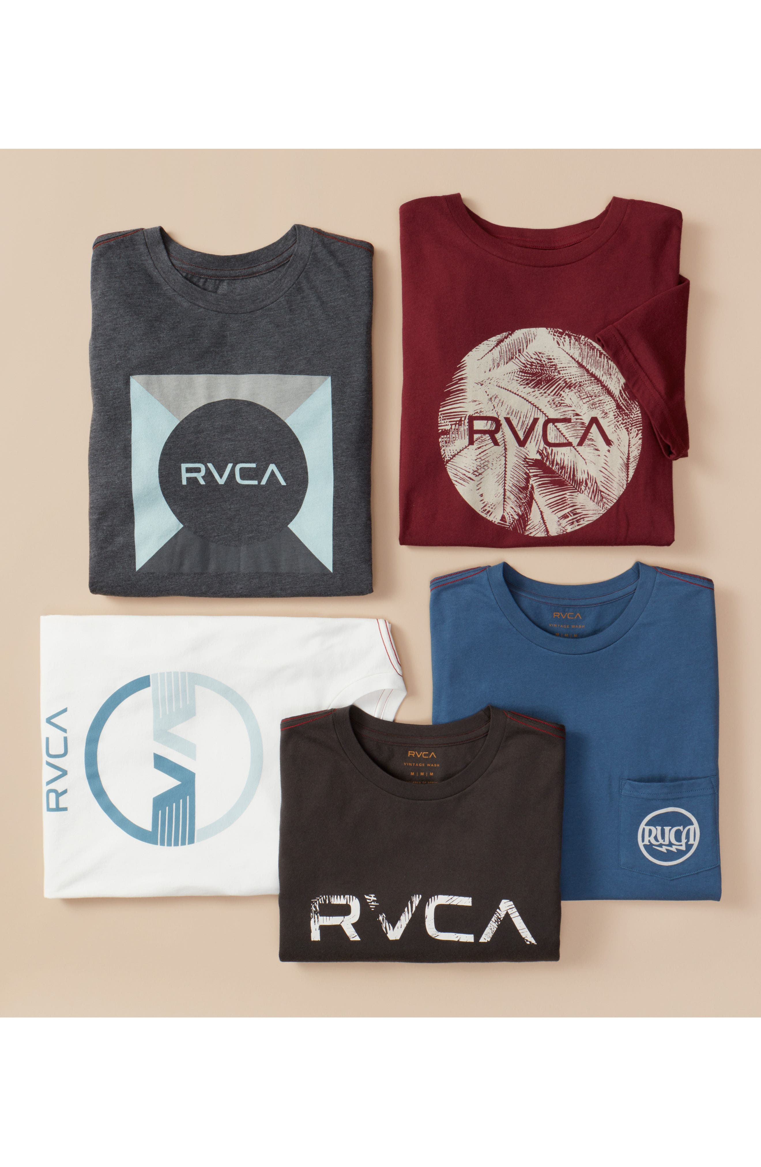 Alternate Image 7  - RVCA Motors Palm Graphic T-Shirt