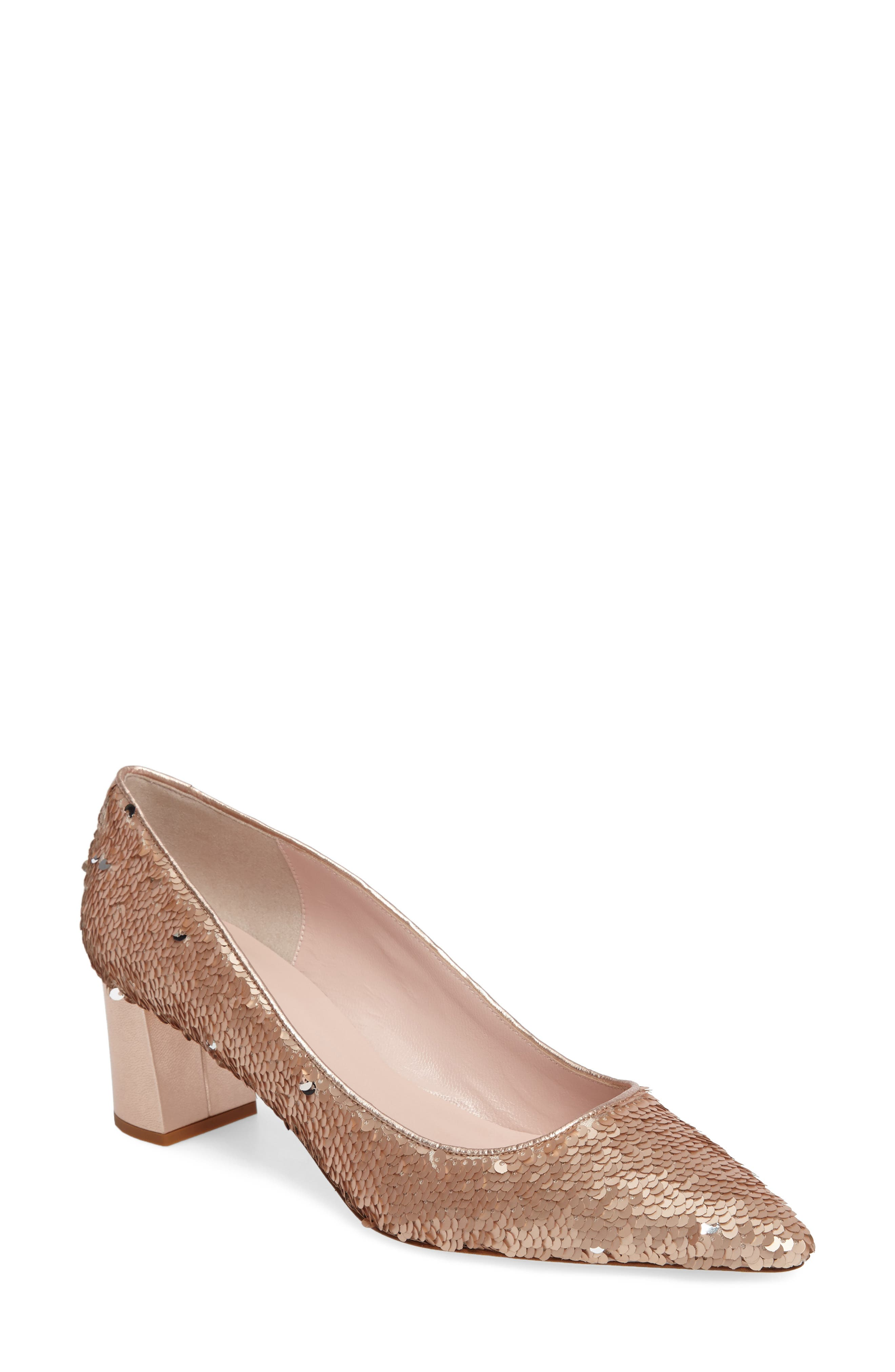 mauna sequin pump,                         Main,                         color, Rose Gold/ Silver