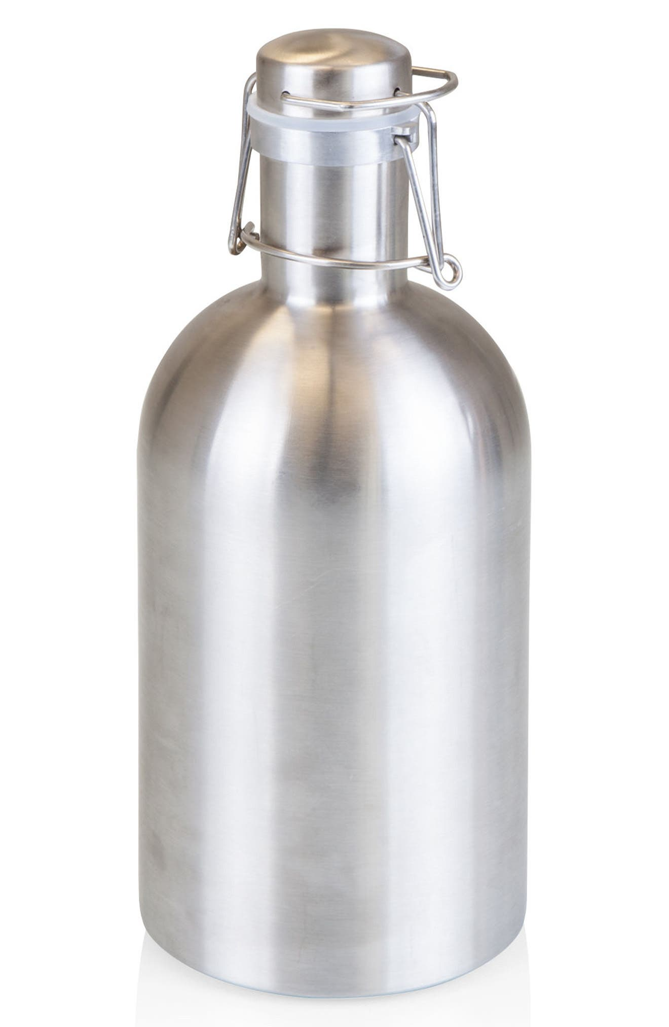 64-Ounce Stainless Steel Growler,                         Main,                         color, Metallic Silver