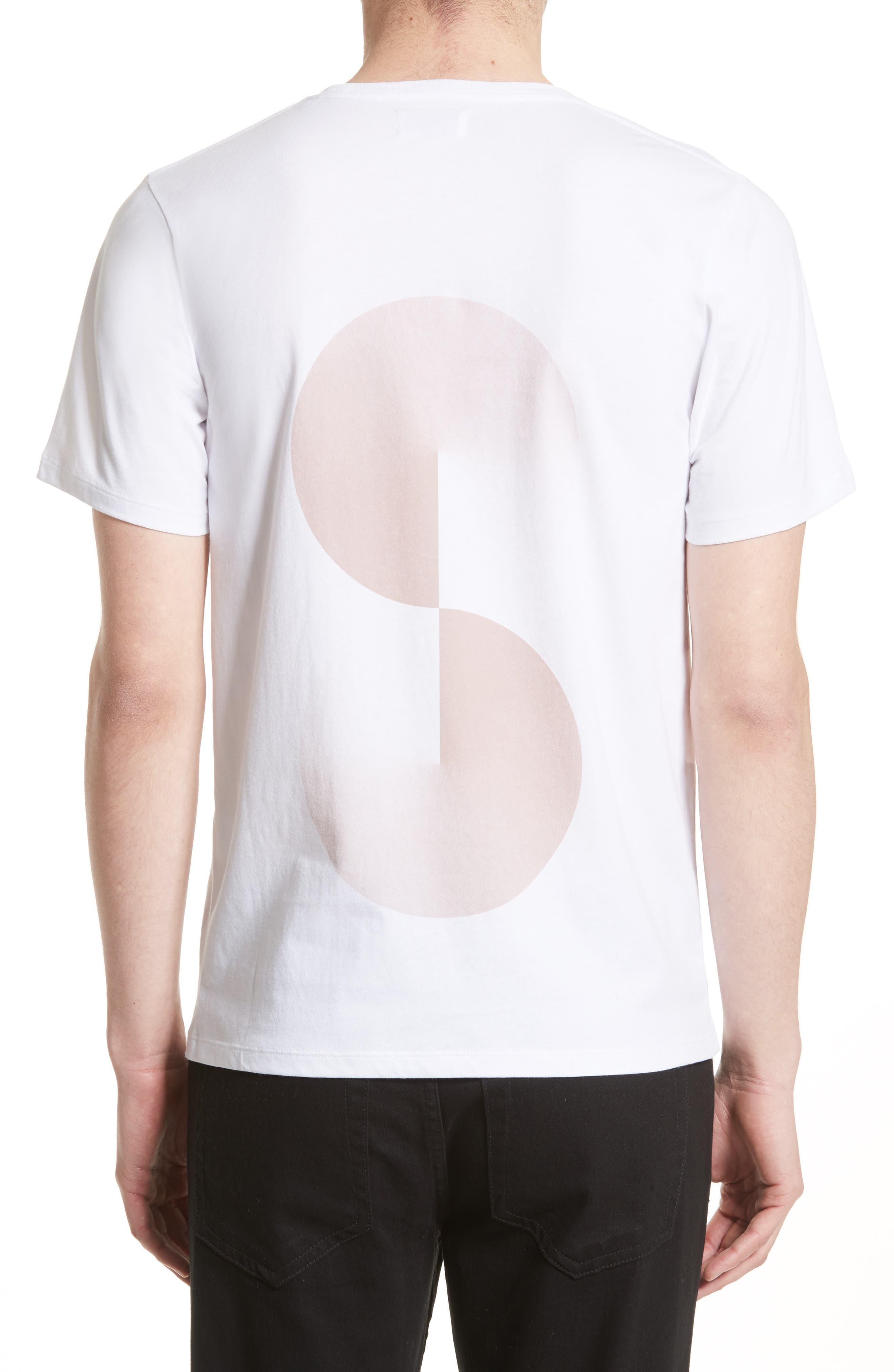 Gradient Graphic T-Shirt,                             Alternate thumbnail 2, color,                             White