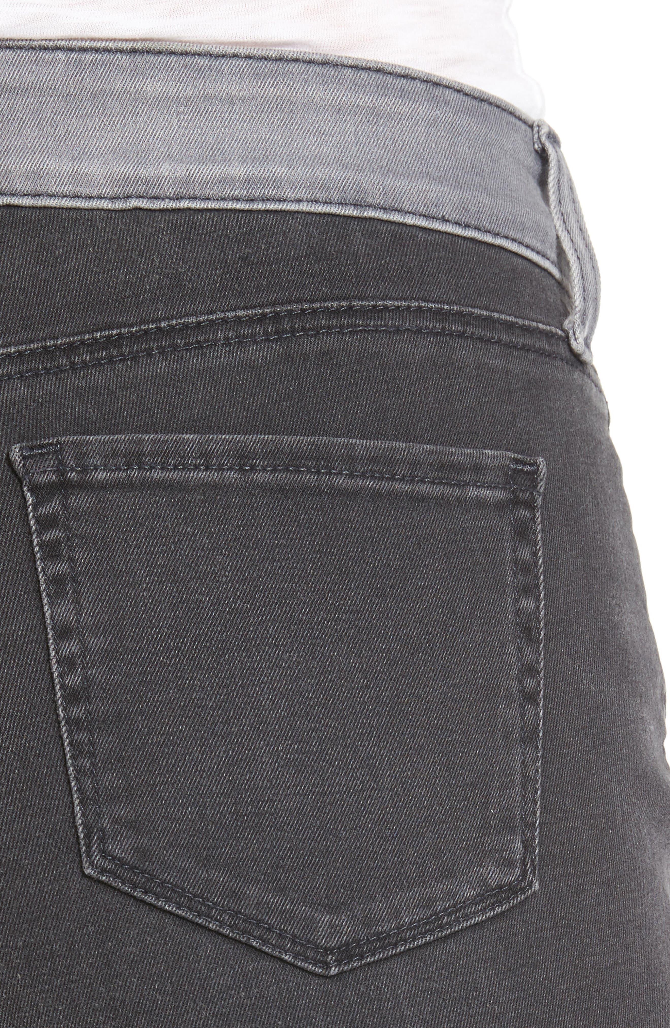 Two Tone Stretch Girlfriend Jeans,                             Alternate thumbnail 4, color,                             Cassiar