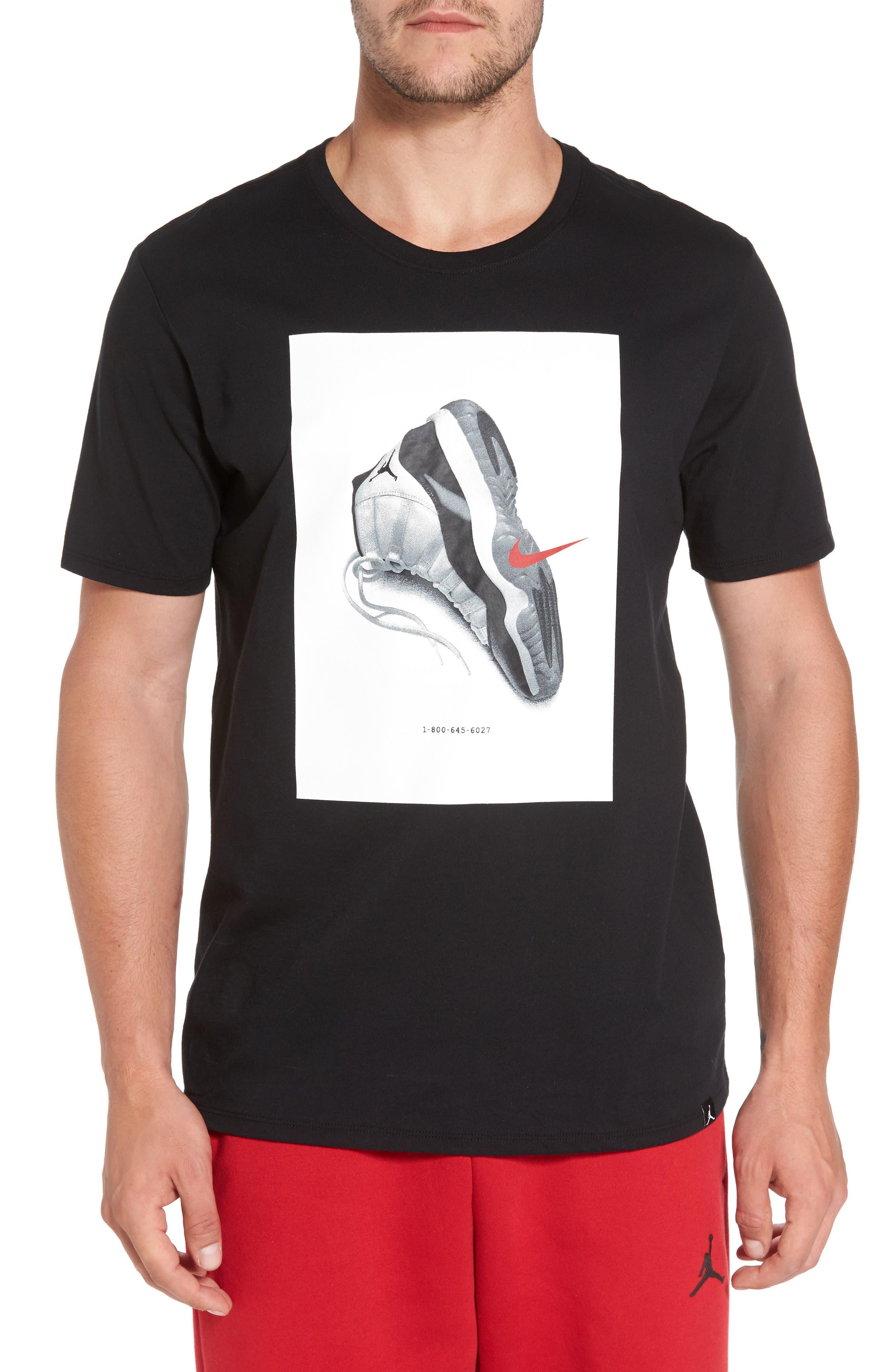 Sportswear AJ11 CNXN Graphic T-Shirt,                             Main thumbnail 1, color,                             Black