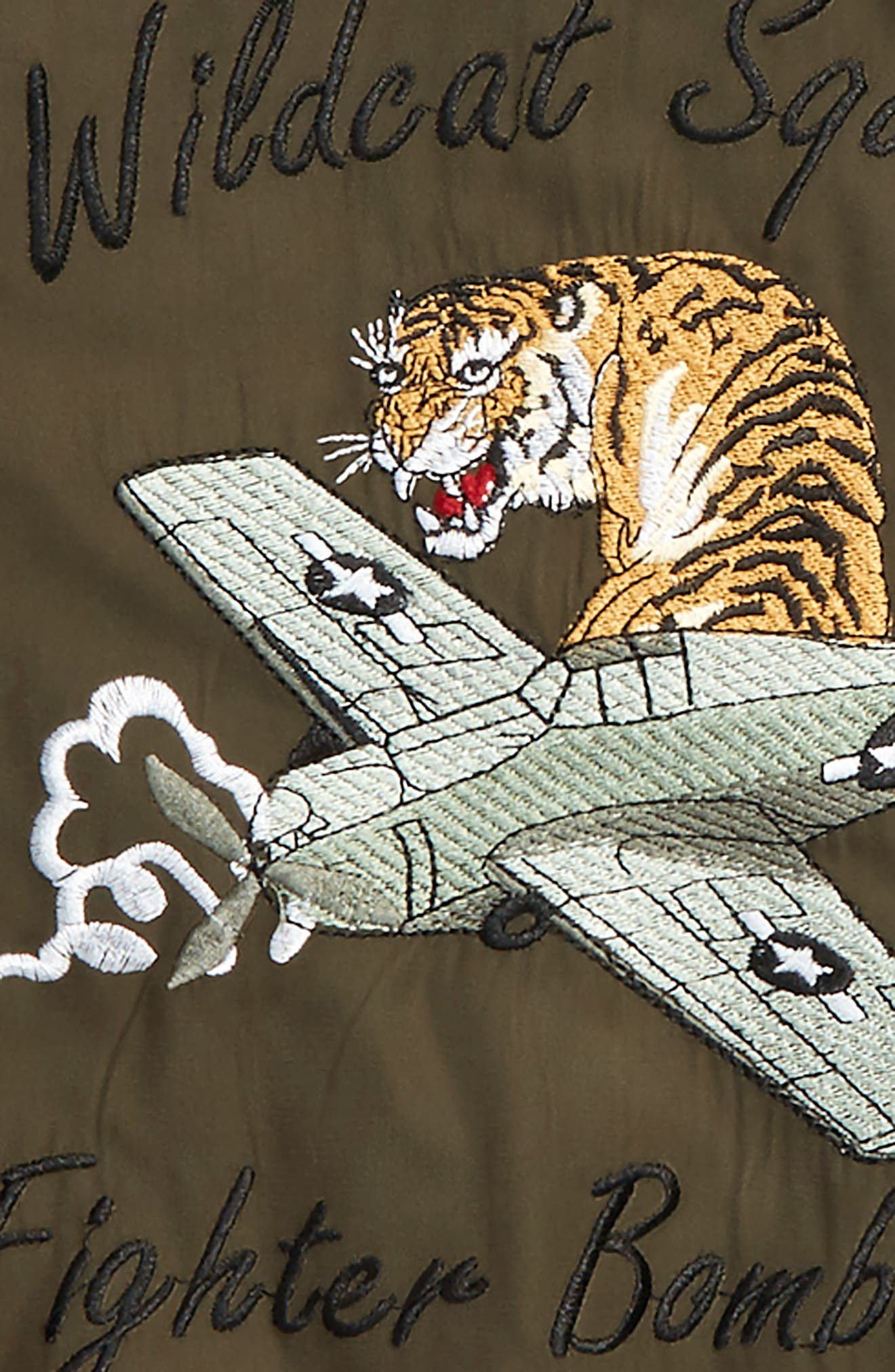 Wildcat Bomber Jacket,                             Alternate thumbnail 3, color,                             Khaki