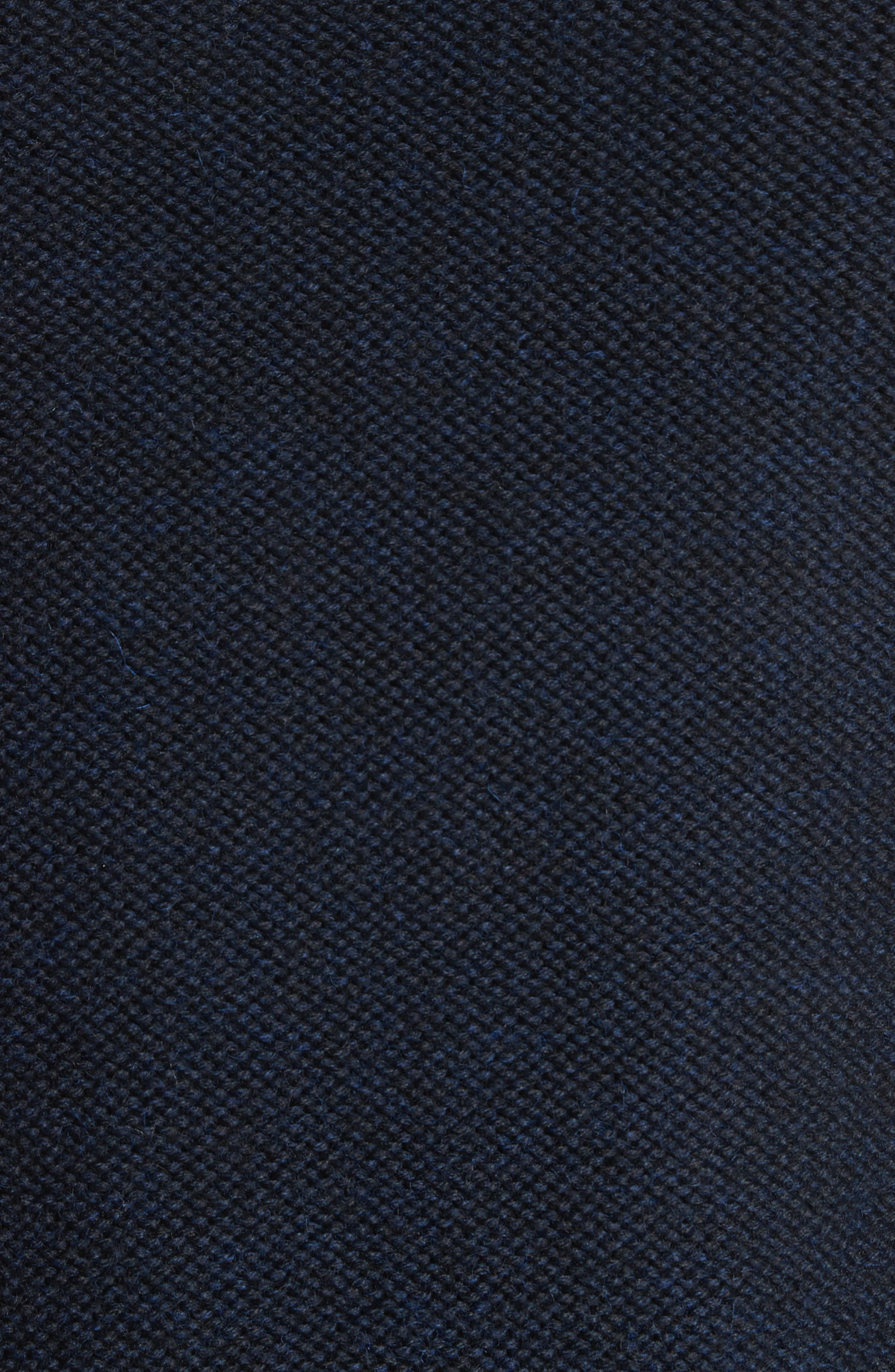 Mixed Knit Wool Sweater,                             Alternate thumbnail 5, color,                             Navy
