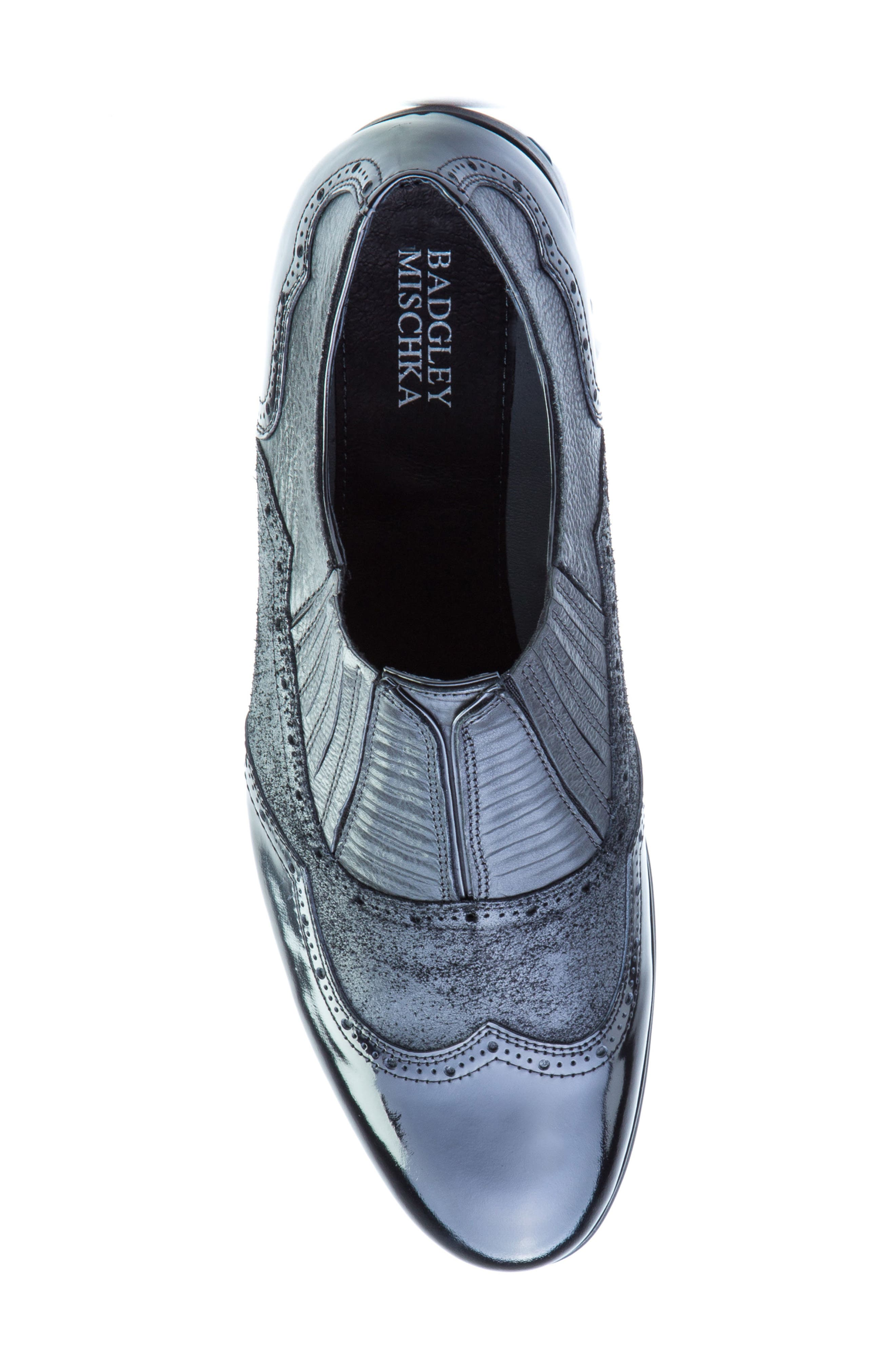Warwick Wingtip,                             Alternate thumbnail 5, color,                             Black Leather