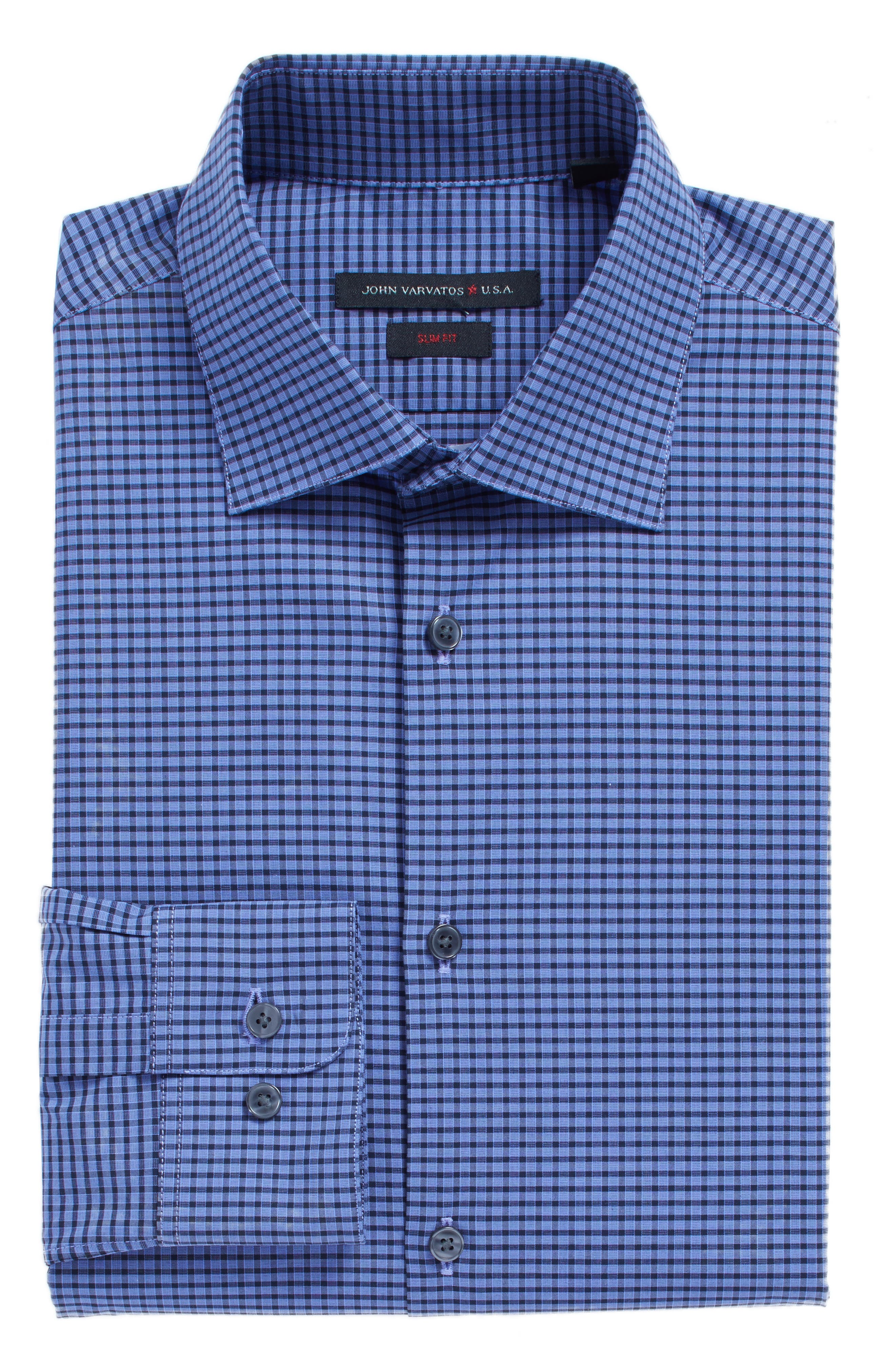 John Varvatos Star USA Slim Fit Stretch Check Dress Shirt