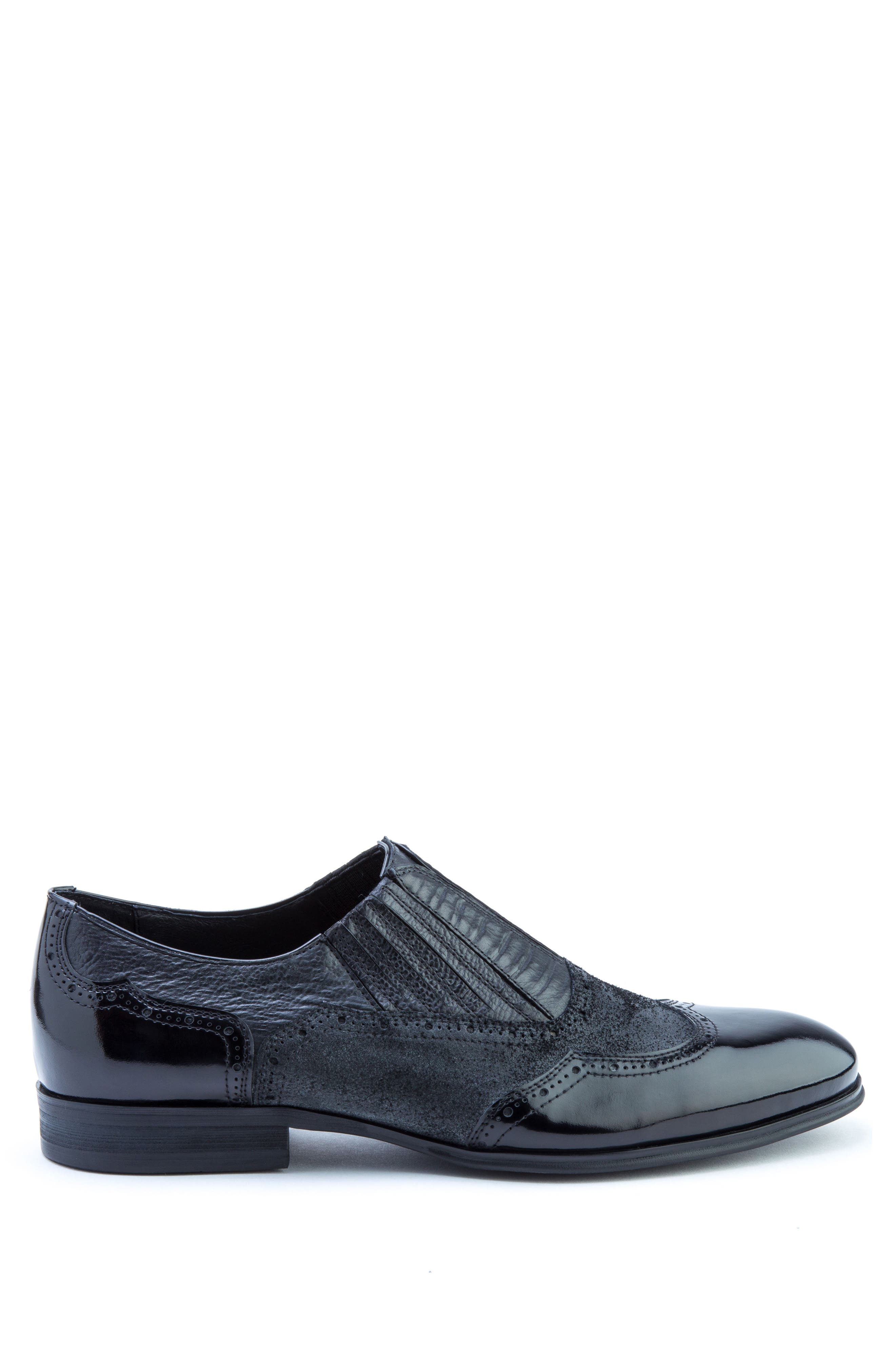 Warwick Wingtip,                             Alternate thumbnail 3, color,                             Black Leather