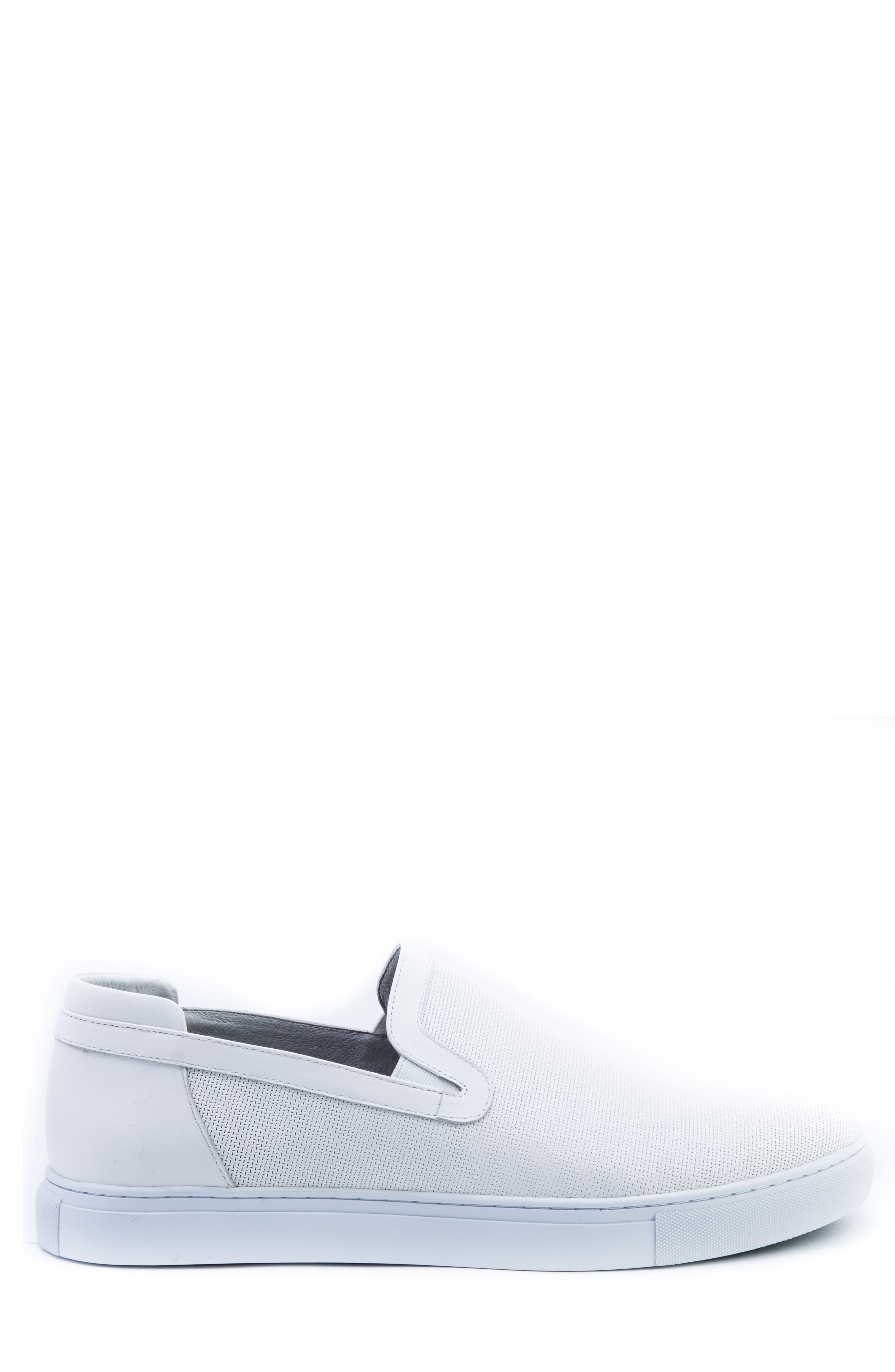 Grant Sneaker,                             Alternate thumbnail 3, color,                             White Leather