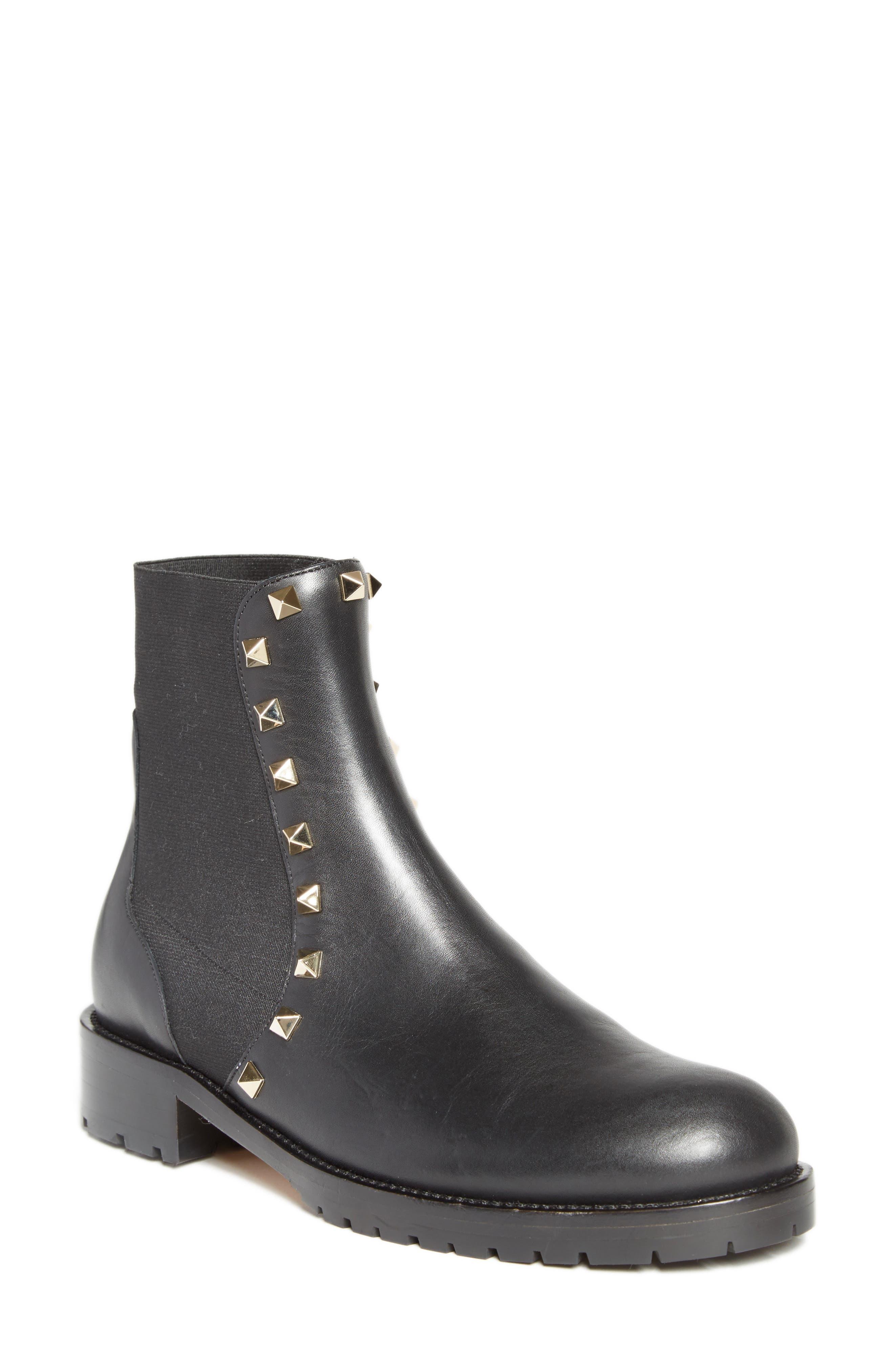 Beatle Rockstud Boot,                         Main,                         color, Black