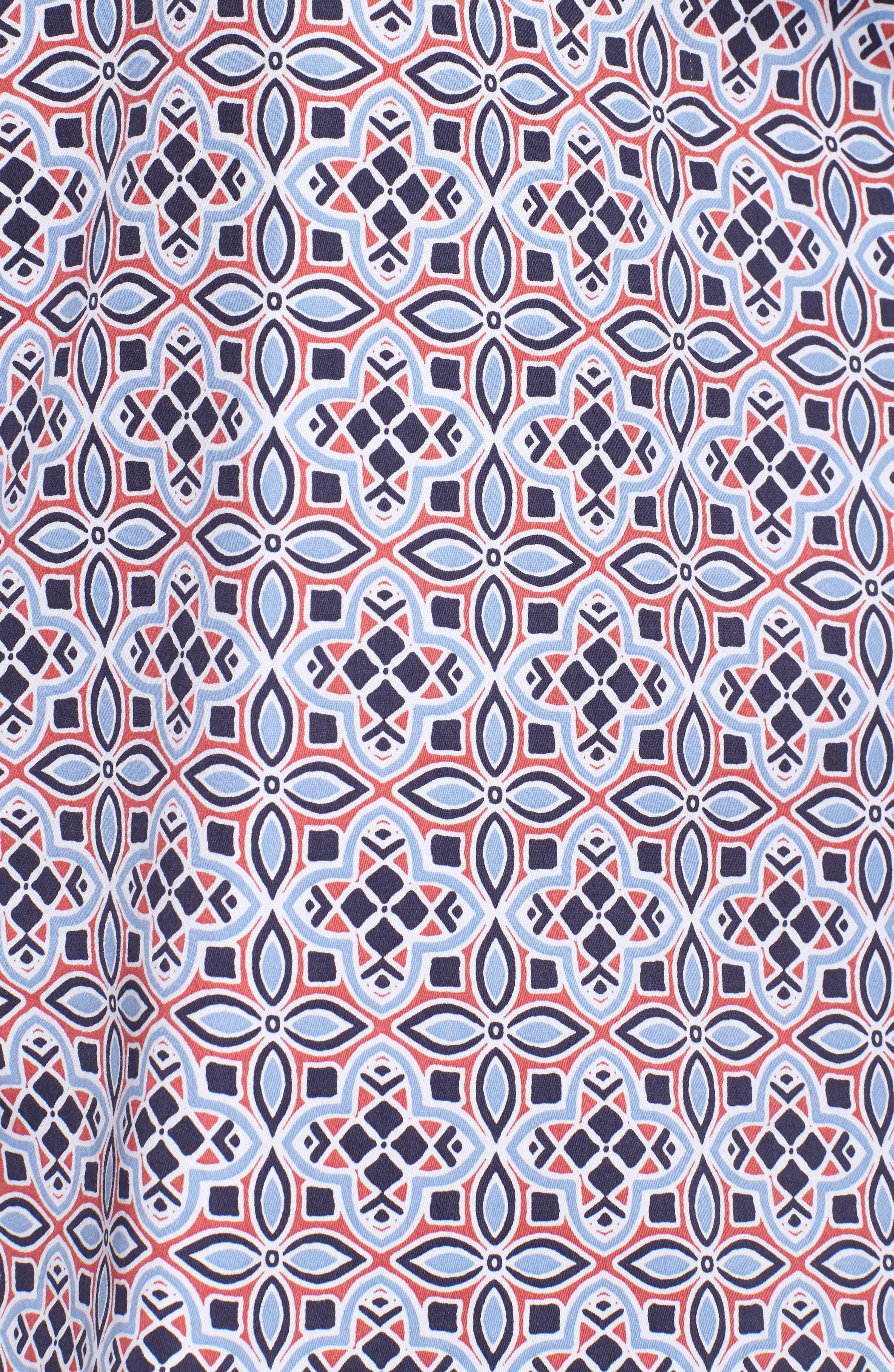 Alternate Image 5  - Foxcroft Ava Non-Iron Tile Print Cotton Shirt (Plus Size)