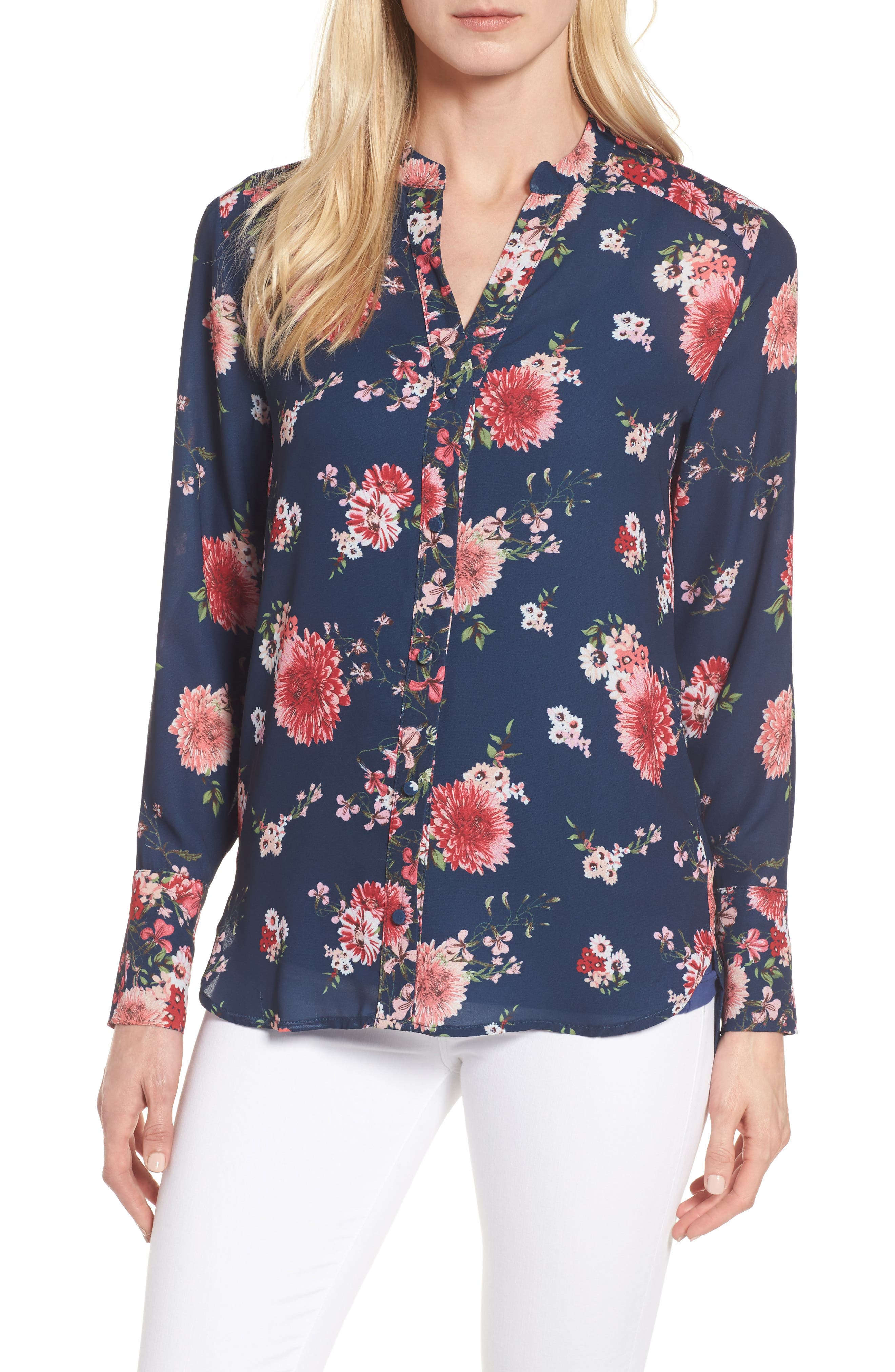 Alternate Image 1 Selected - KUT from the Kloth Liliana Floral Blouse