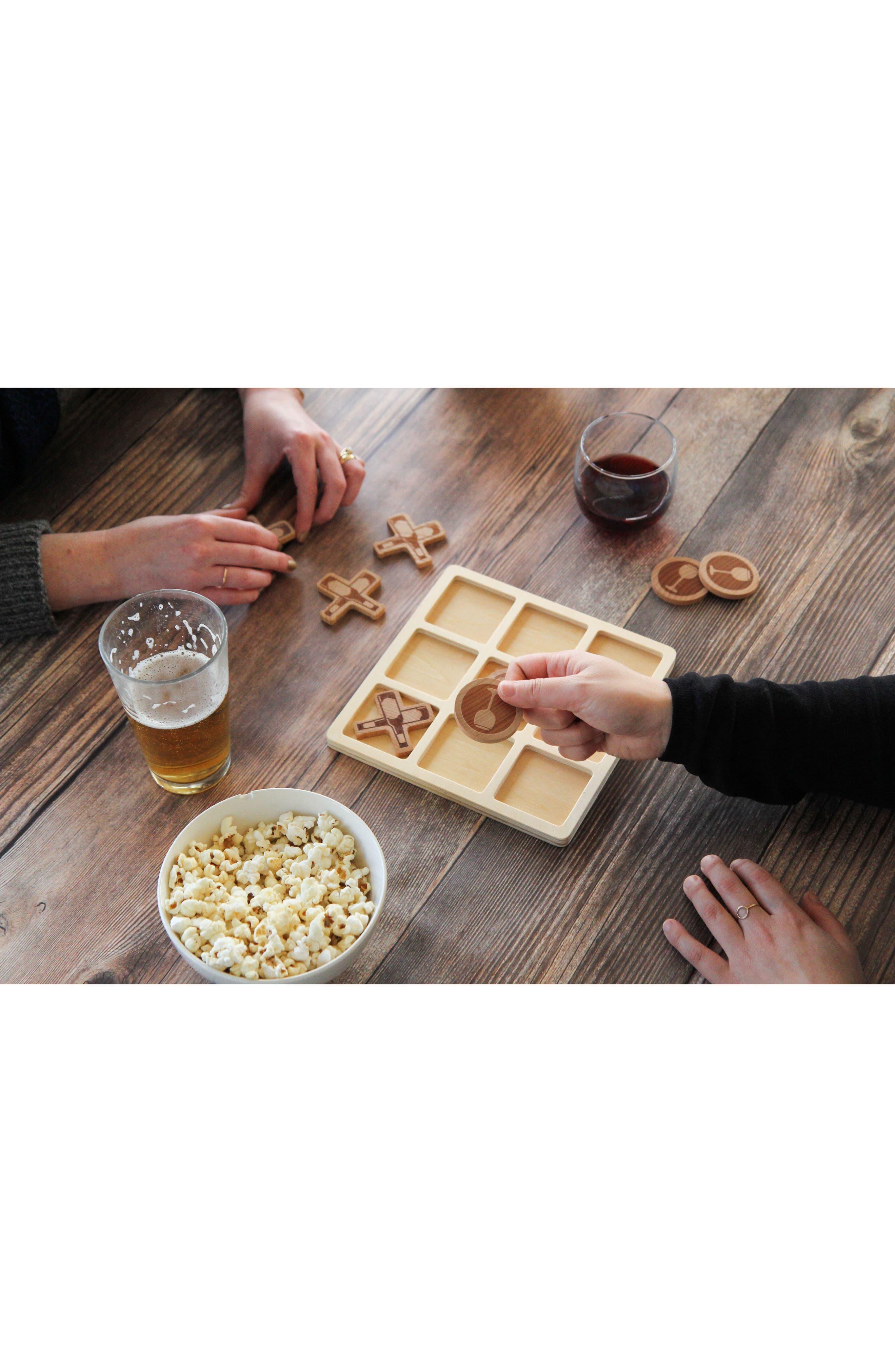 Drink Tac Toe Beer vs. Wine Game,                             Alternate thumbnail 3, color,                             Brown