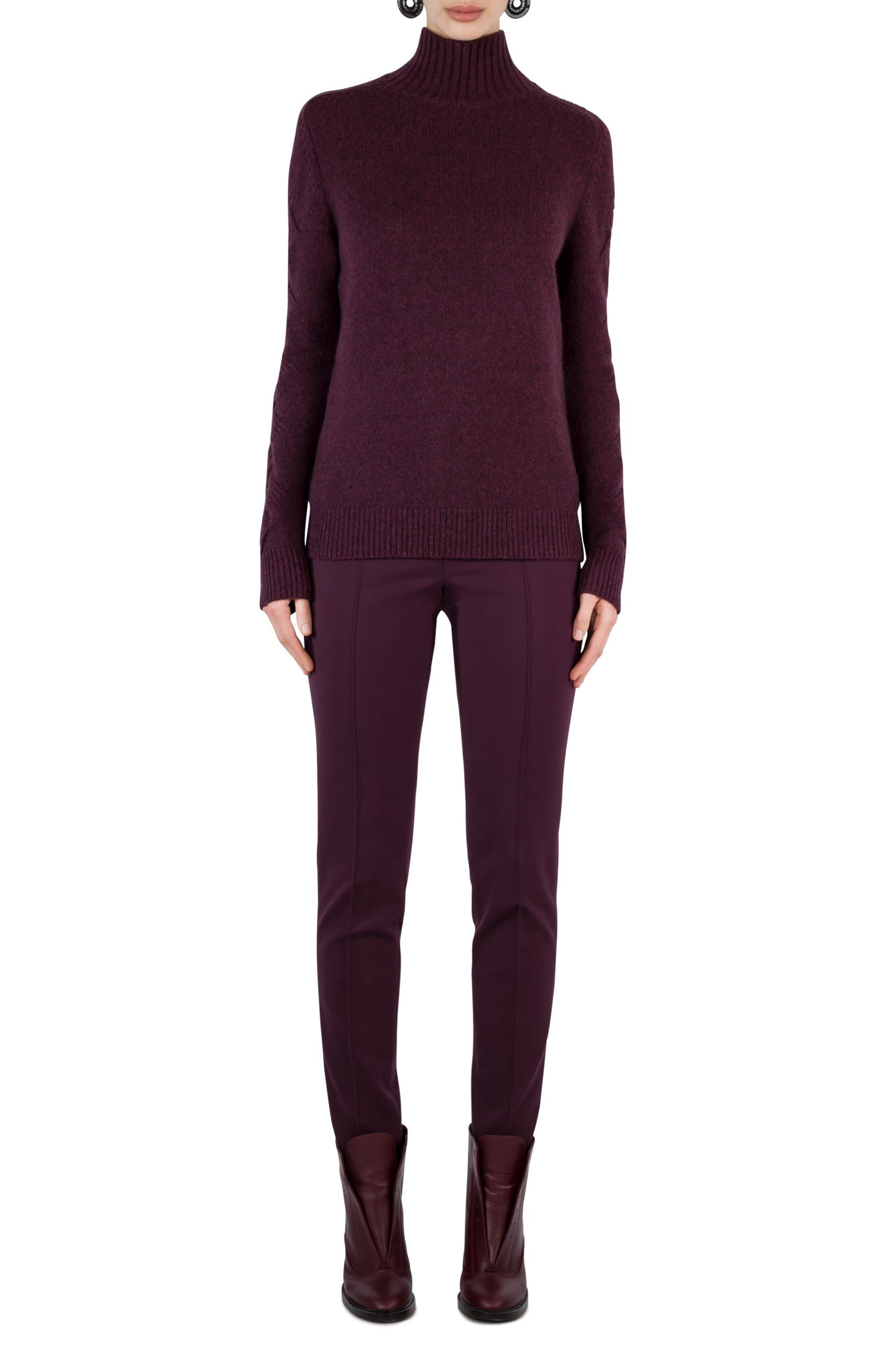 Alternate Image 2  - Akris punto Wool Blend Turtleneck Sweater