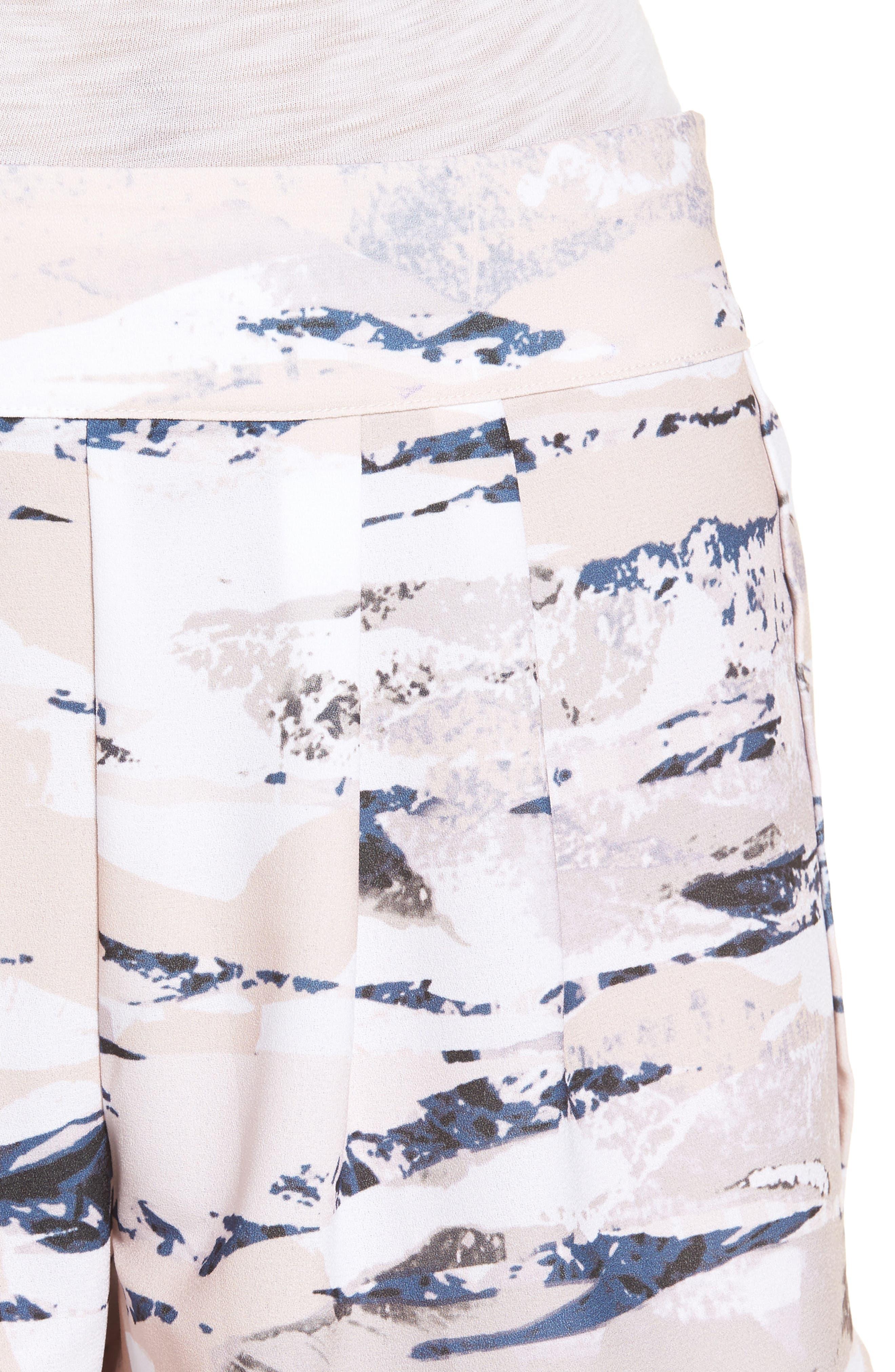 Tulip Hem Shorts,                             Alternate thumbnail 4, color,                             Stone