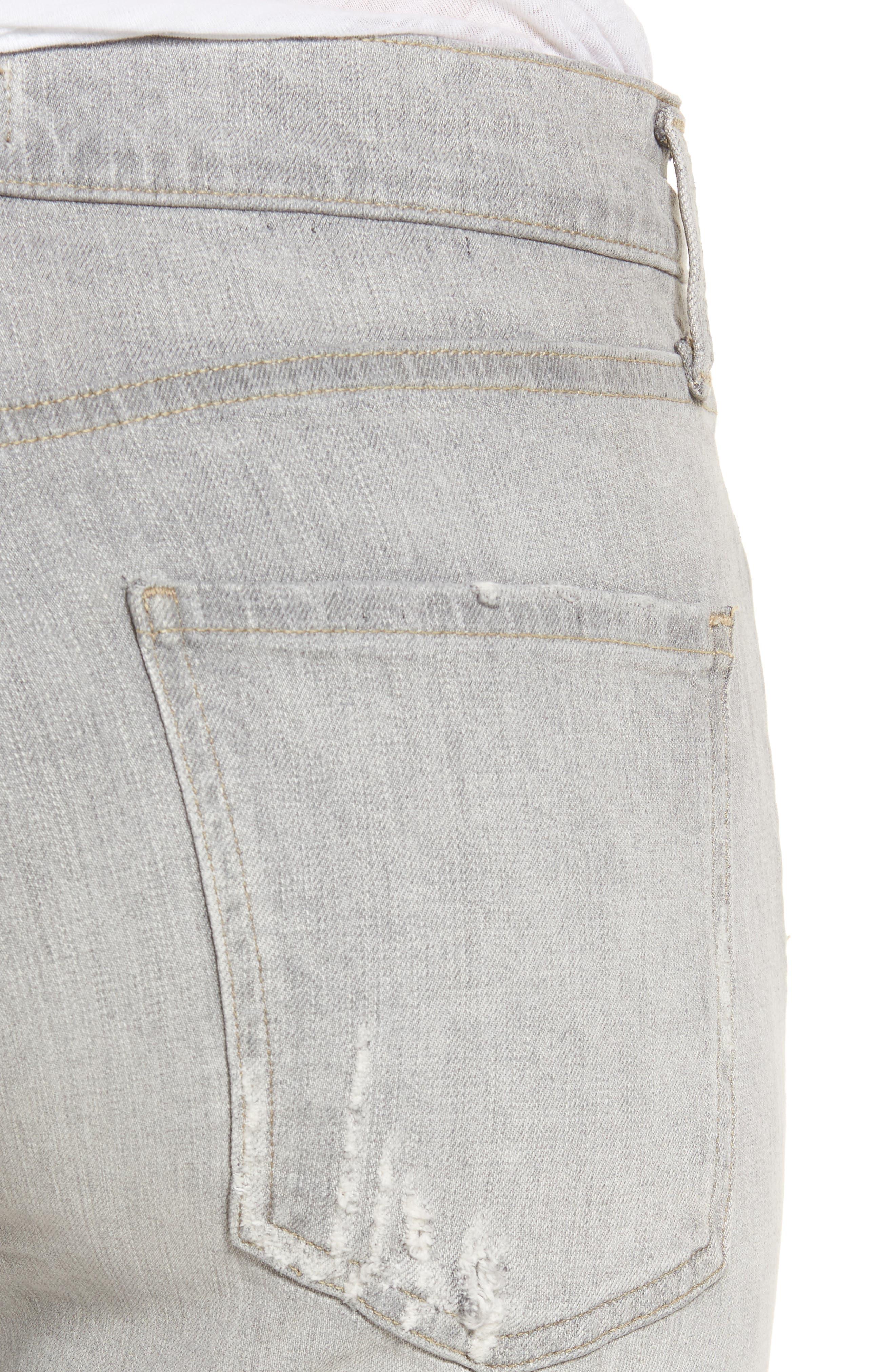 Sophie High Waist Skinny Jeans,                             Alternate thumbnail 4, color,                             Portland Destruct