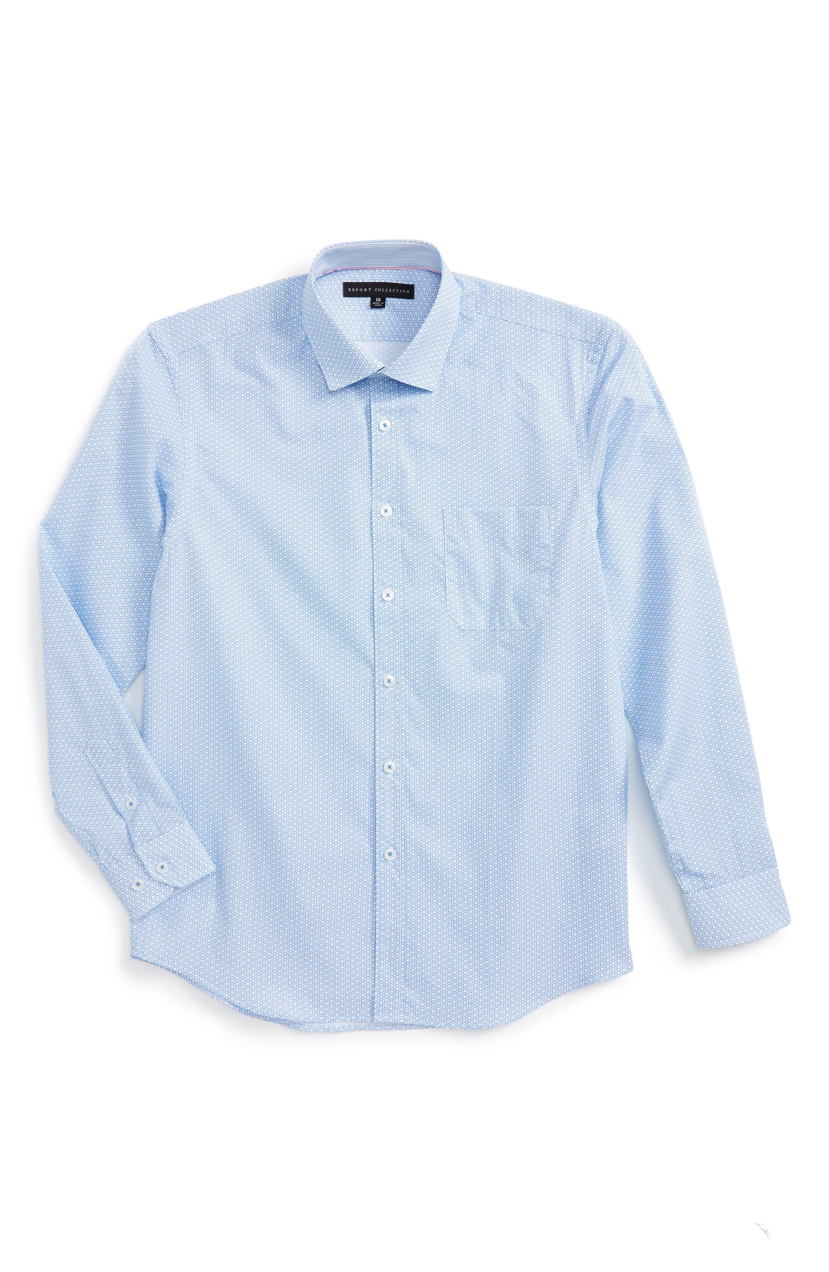 Report Collection Geo Print Dress Shirt (Big Boys)