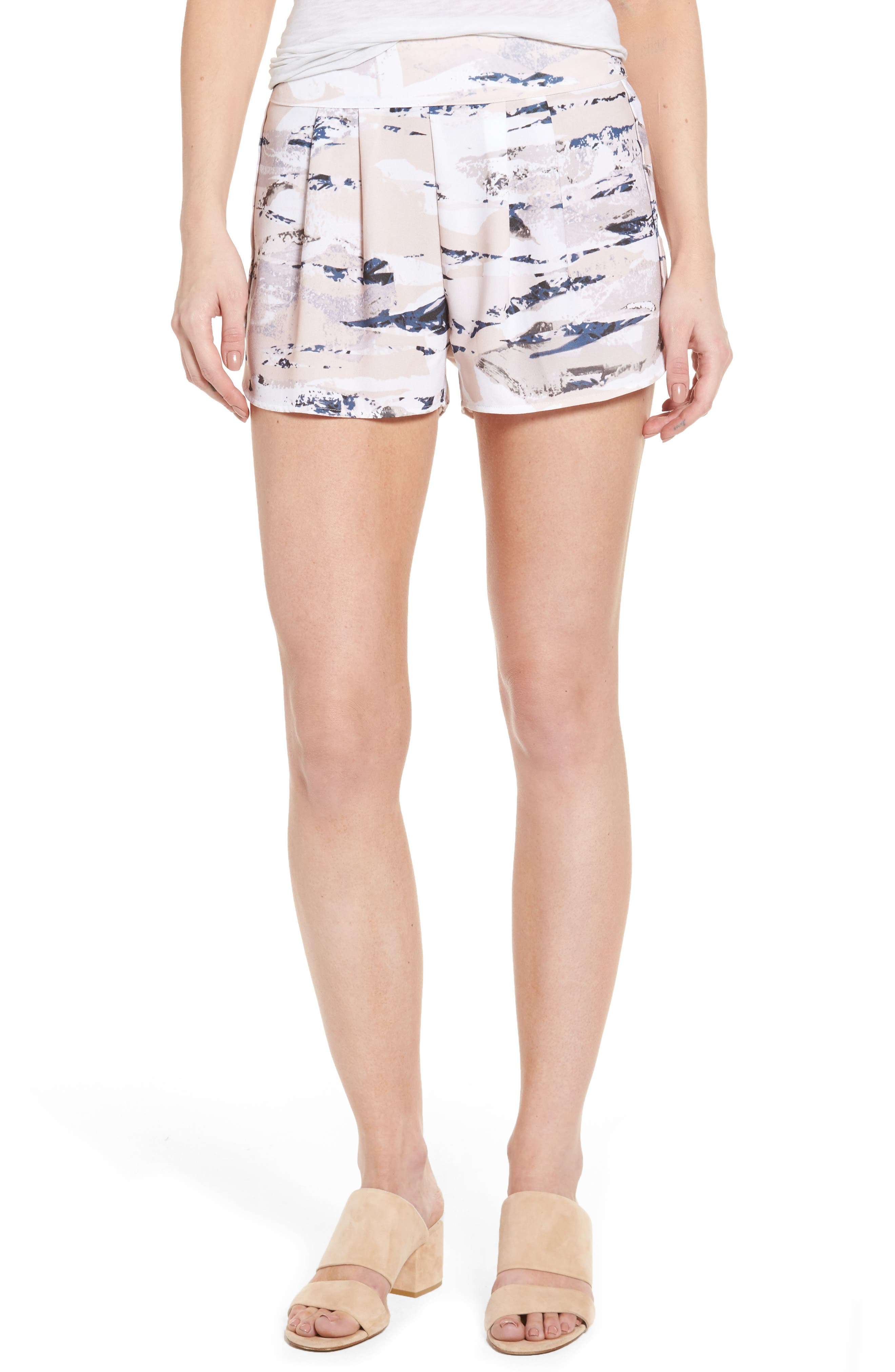 Tulip Hem Shorts,                         Main,                         color, Stone