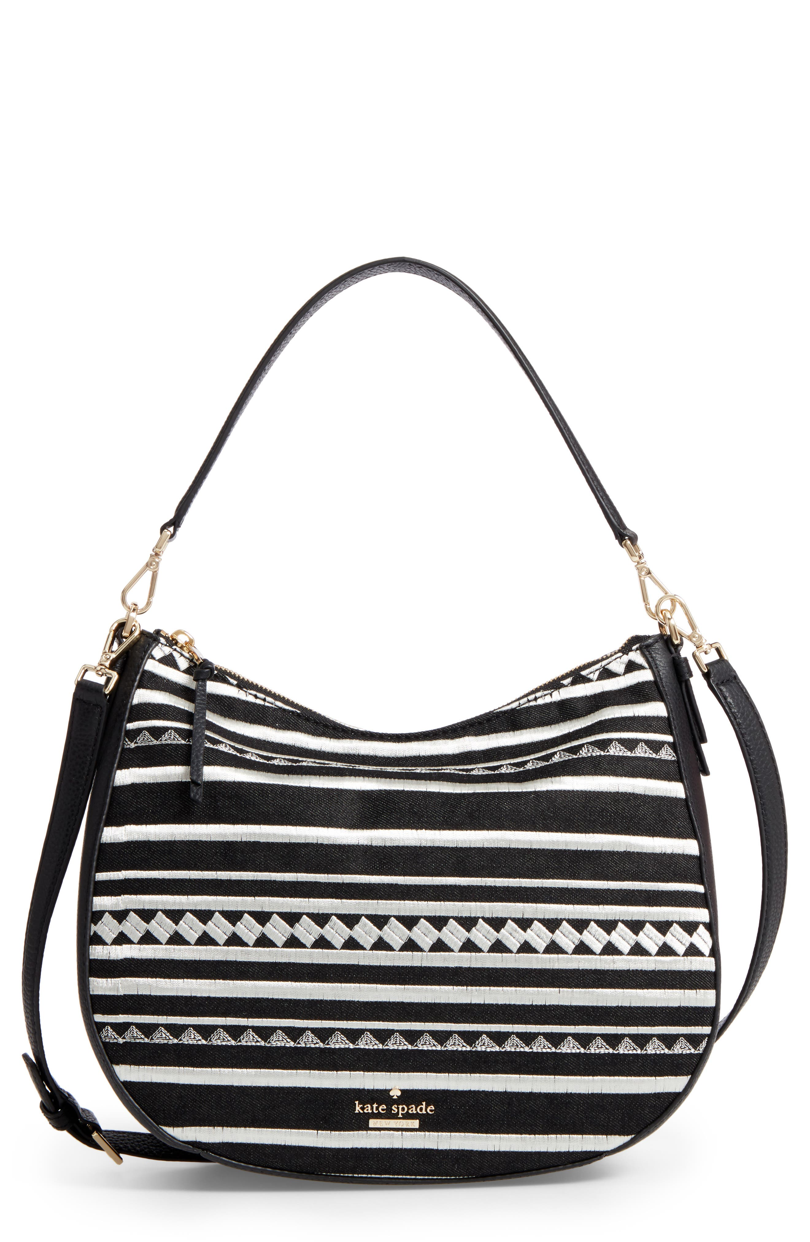 KATE SPADE NEW YORK jackson street embroidered mylie hobo
