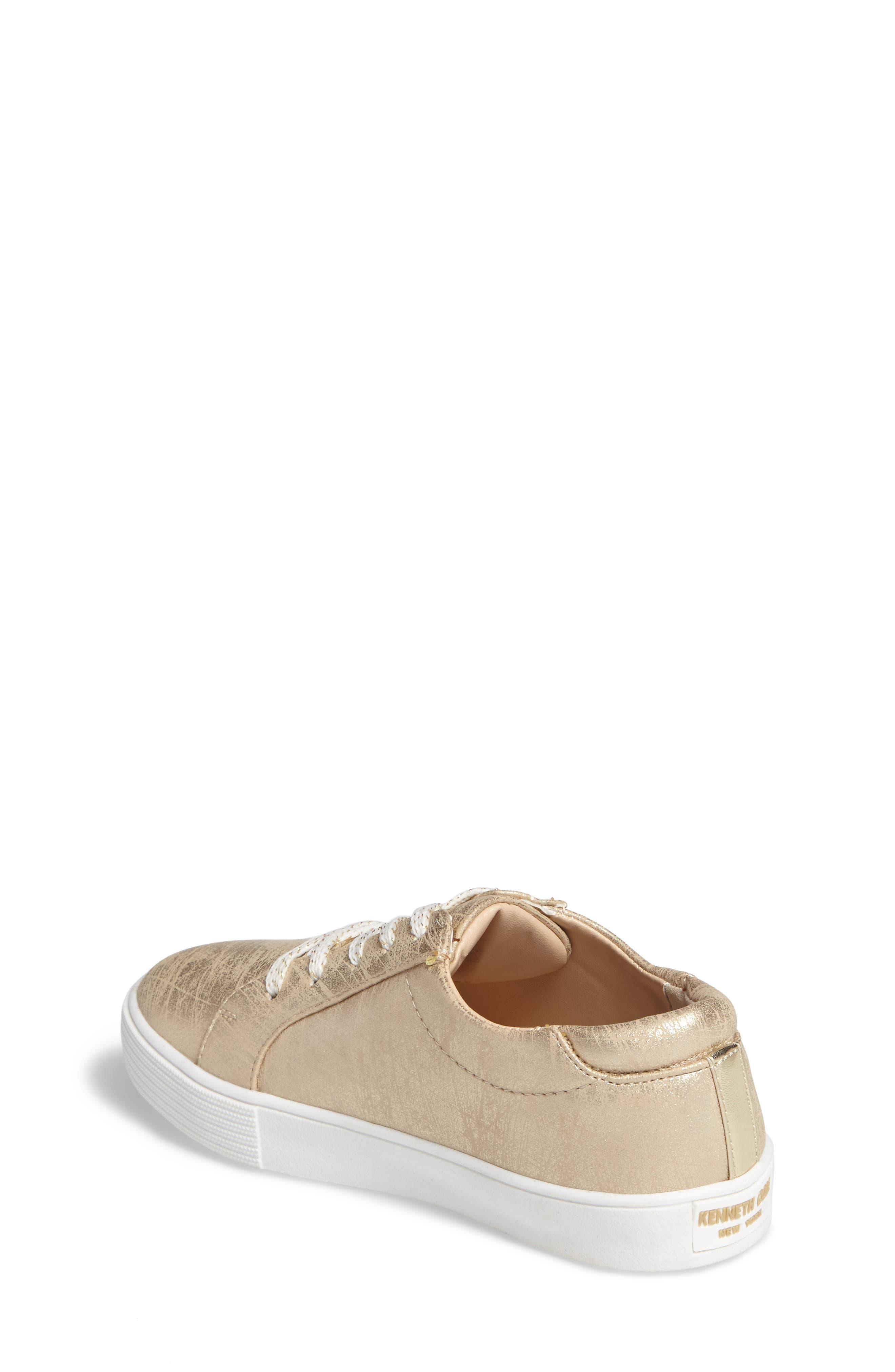 Kam Elastic Sneaker,                             Alternate thumbnail 2, color,                             Gold Brushed