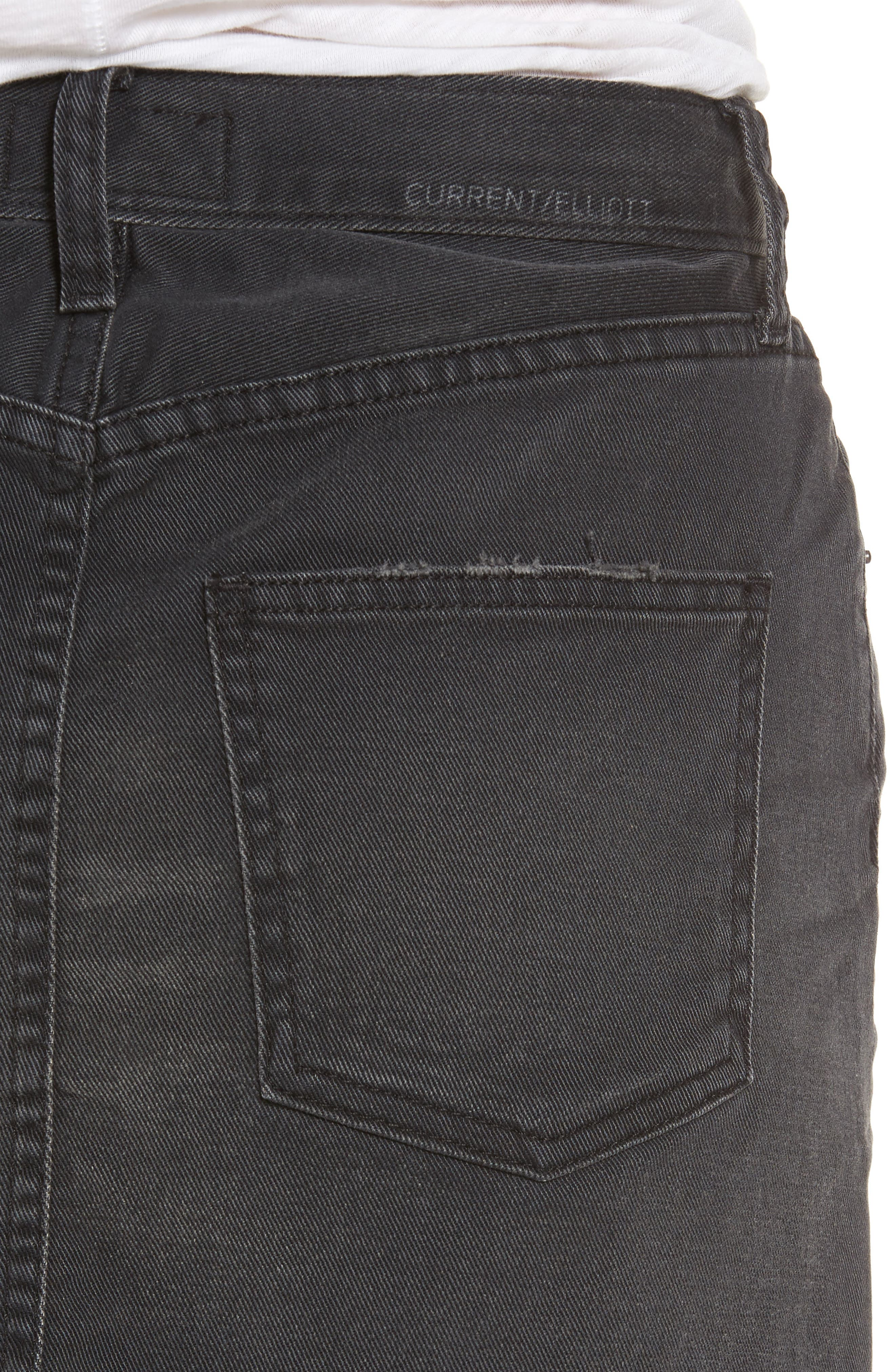 Alternate Image 4  - Current/Elliott Cut Off Miniskirt
