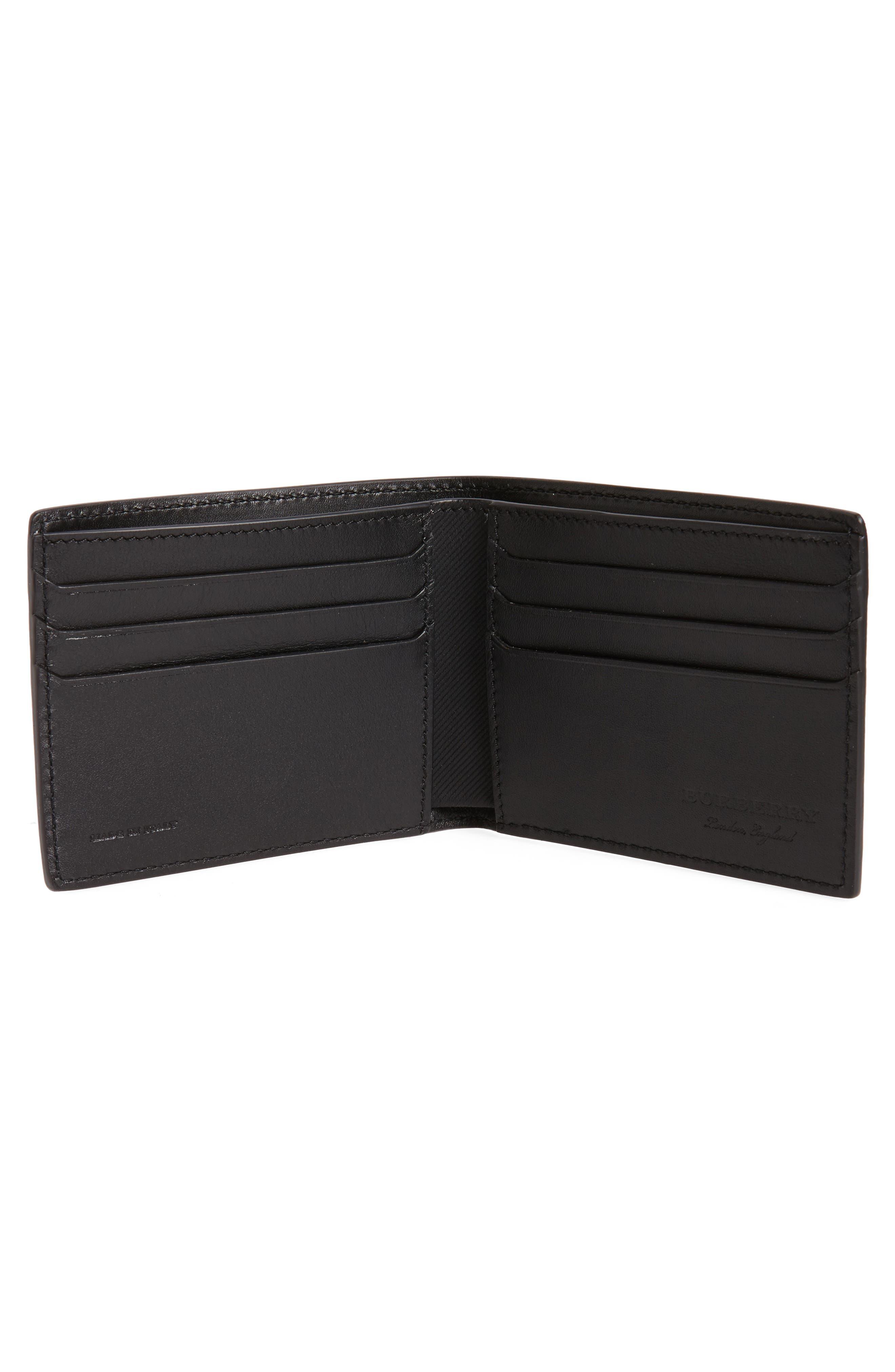Leather Bifold Wallet,                             Alternate thumbnail 2, color,                             Black