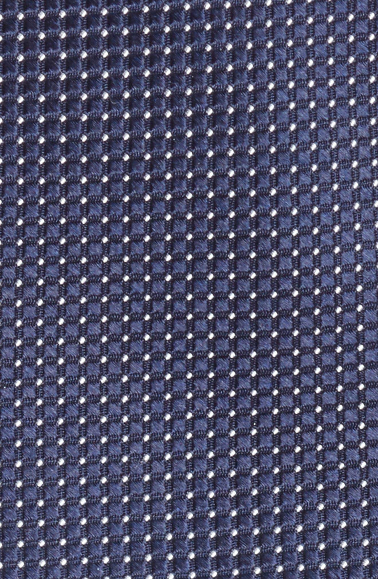Micro Pin Dot Silk Tie,                             Alternate thumbnail 2, color,                             Navy