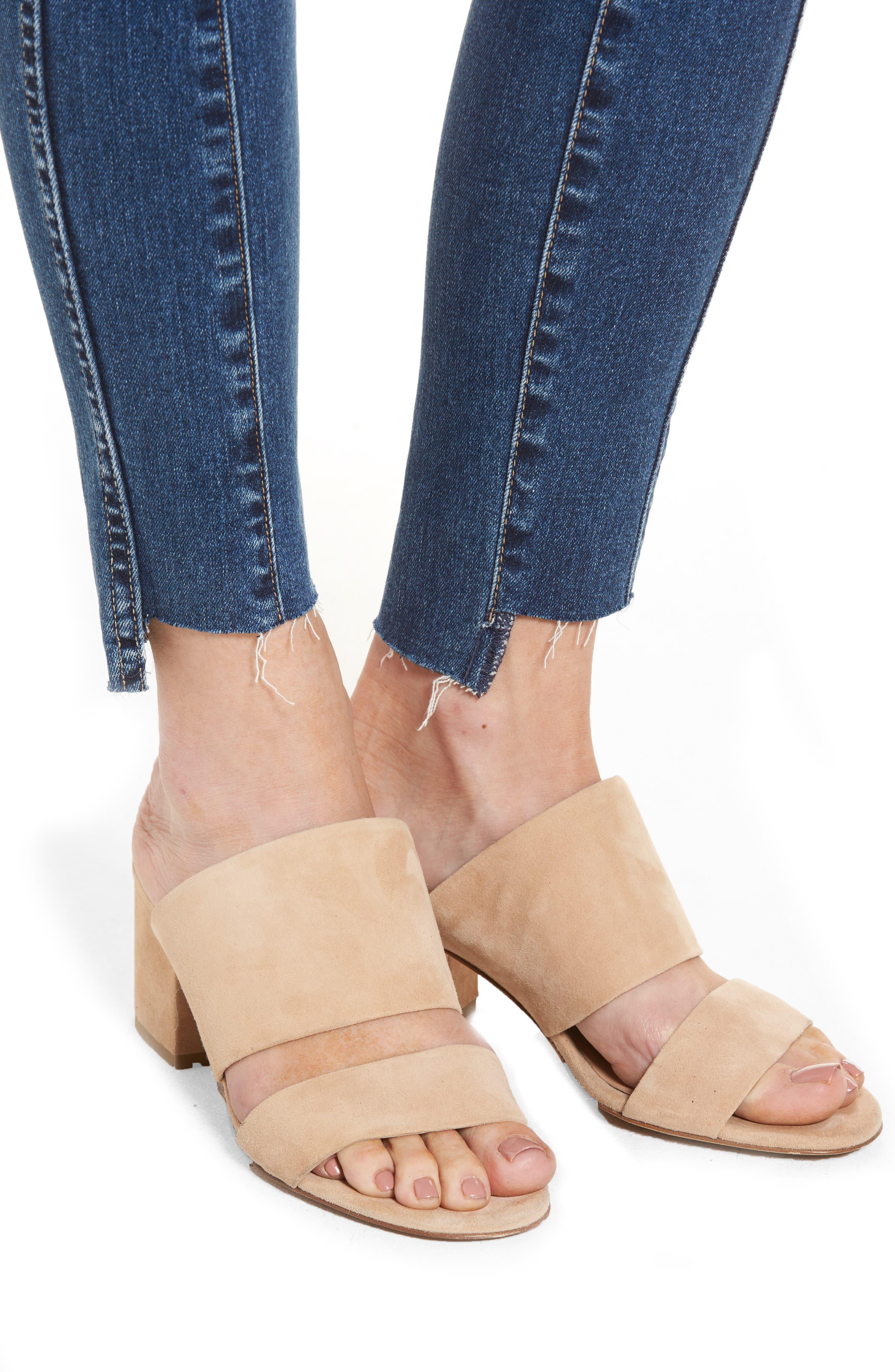 Alternate Image 4  - AG The High Rise Farrah Ankle Skinny Jeans (10 Years Rhythmic Blue)