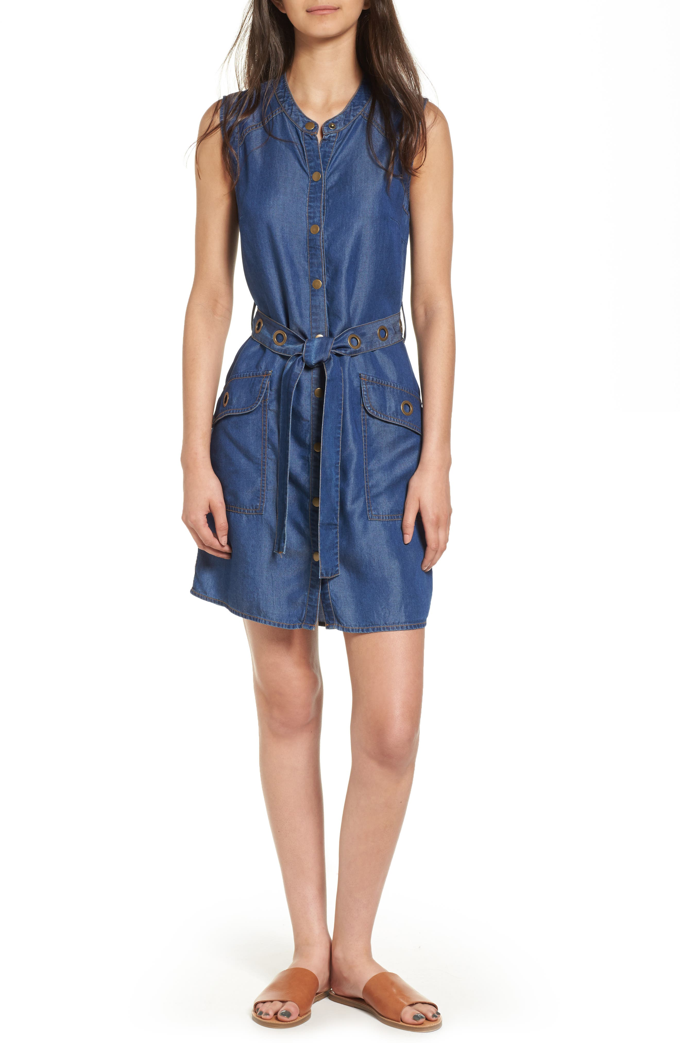 SPLENDID Wilder Belted Denim Shirtdress