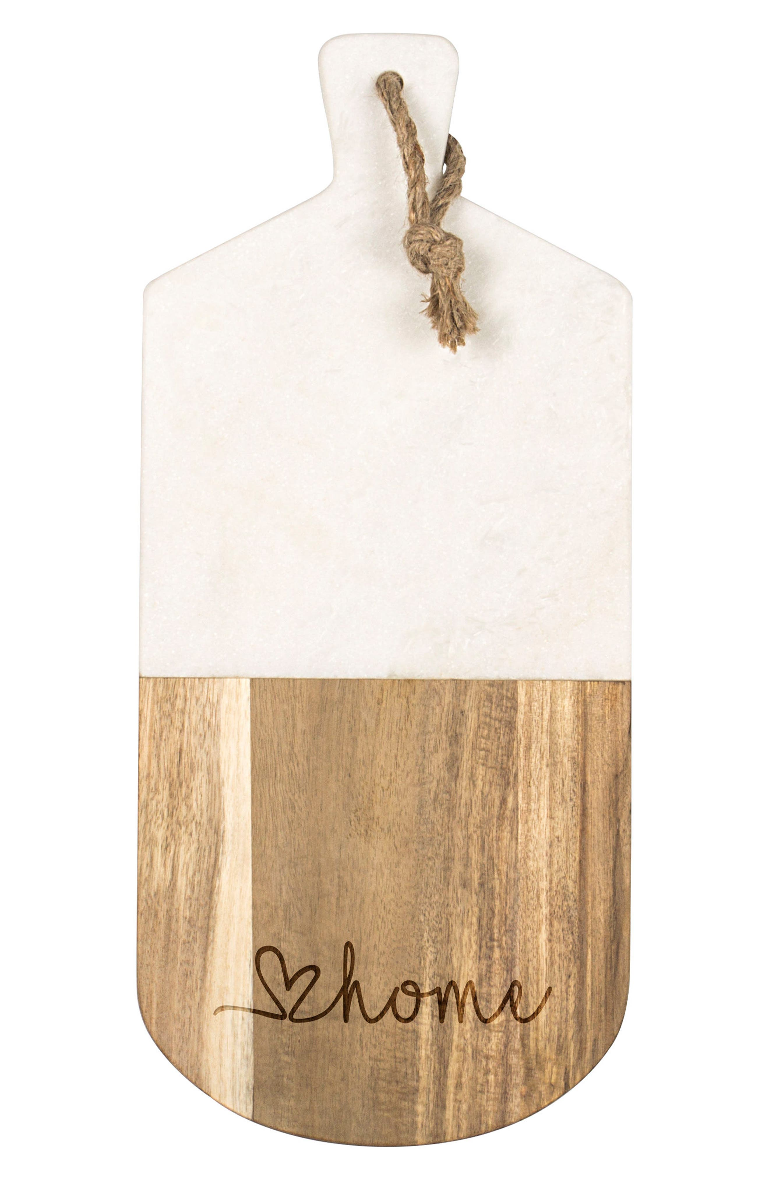 Cathy's Concepts Love Home Marble & Acacia Serving Board