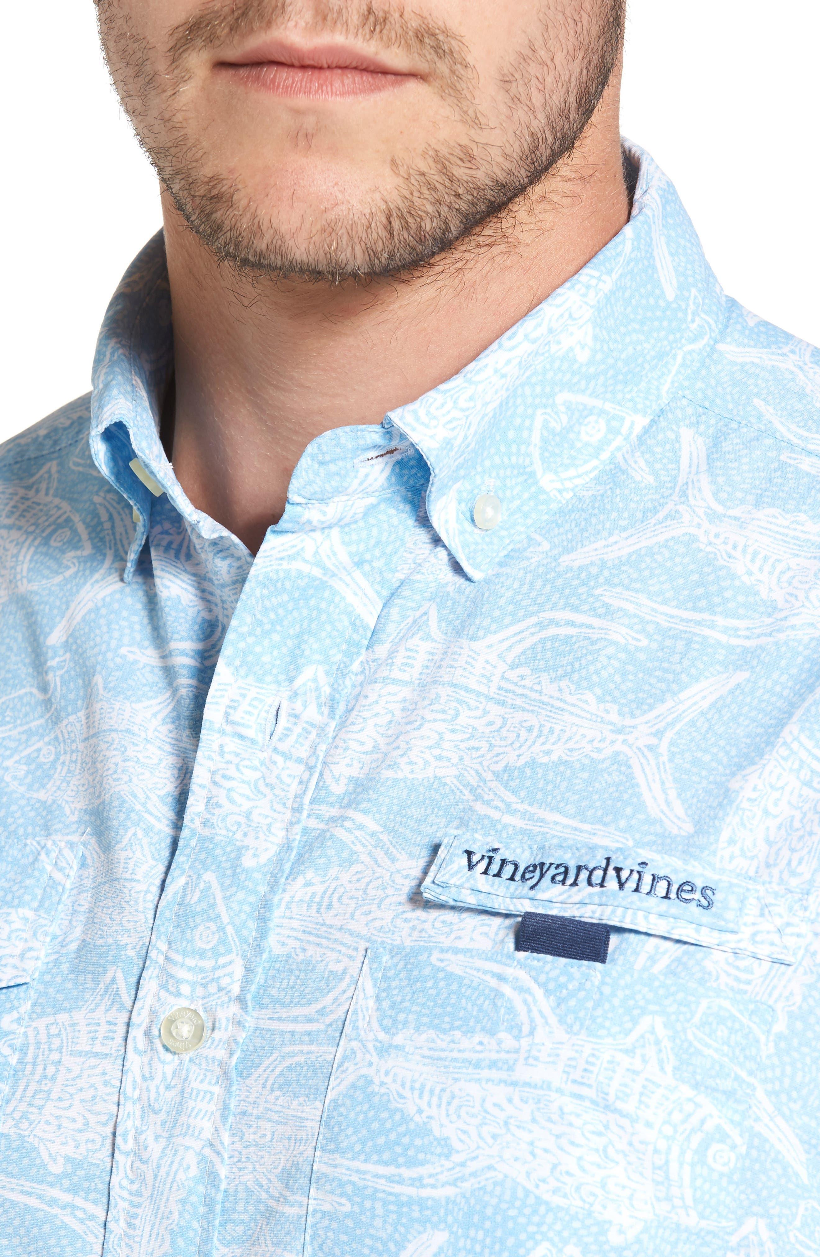 Alternate Image 4  - Vineyard Vines Tuna Batic Harbor Short Sleeve Sport Shirt