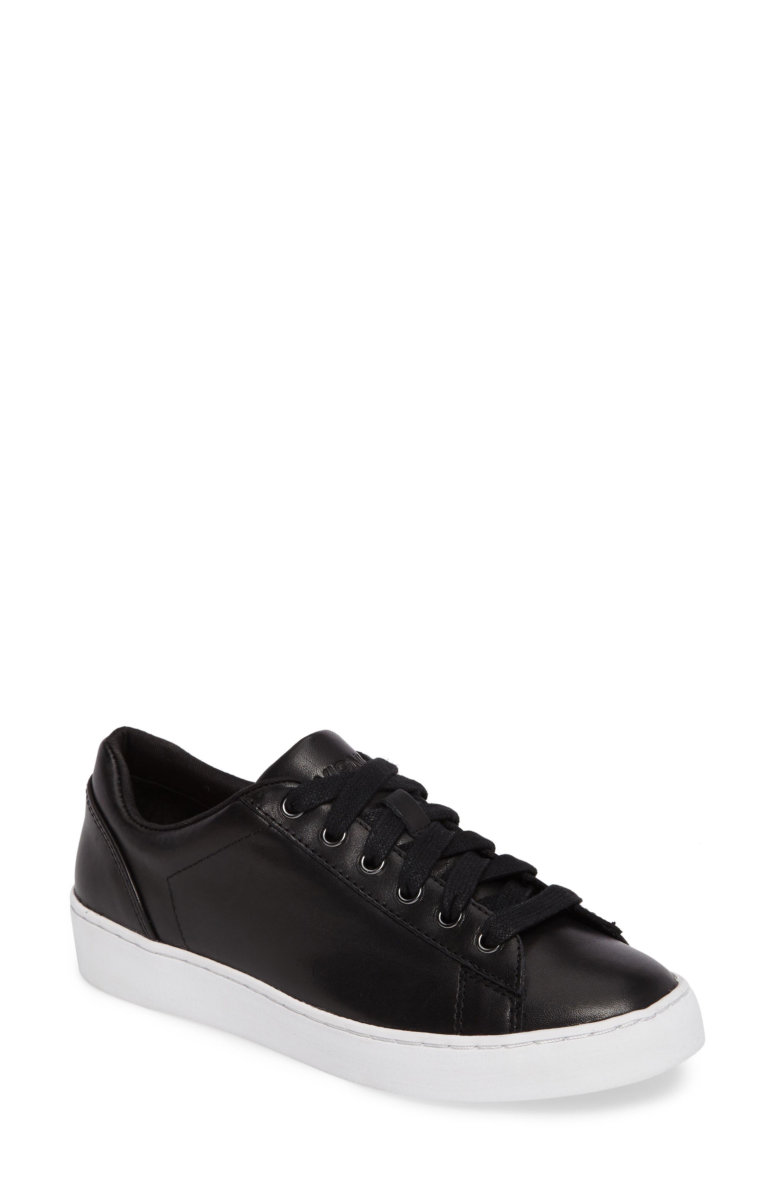 Vionic Splendid Syra Sneaker (Women). BLACK LEATHER; WHITE LEATHER