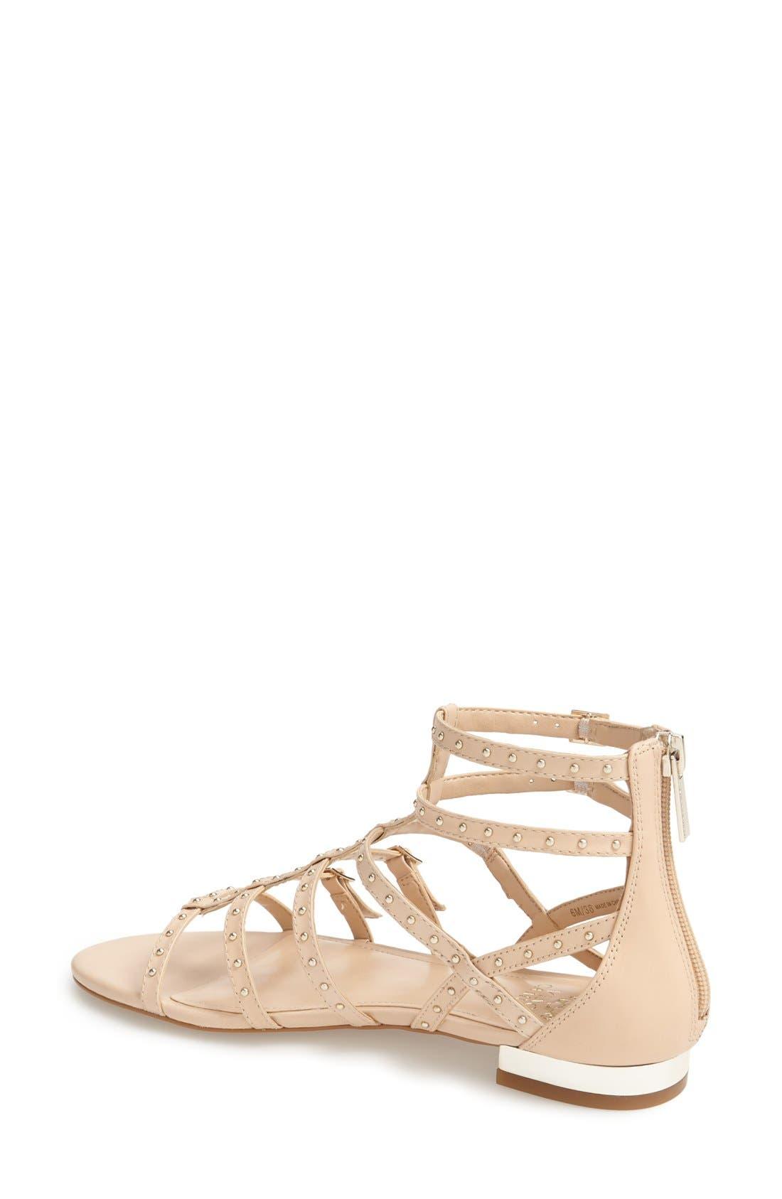 Alternate Image 2  - Vince Camuto 'Hevelli' Studded Leather Gladiator Sandal (Women)