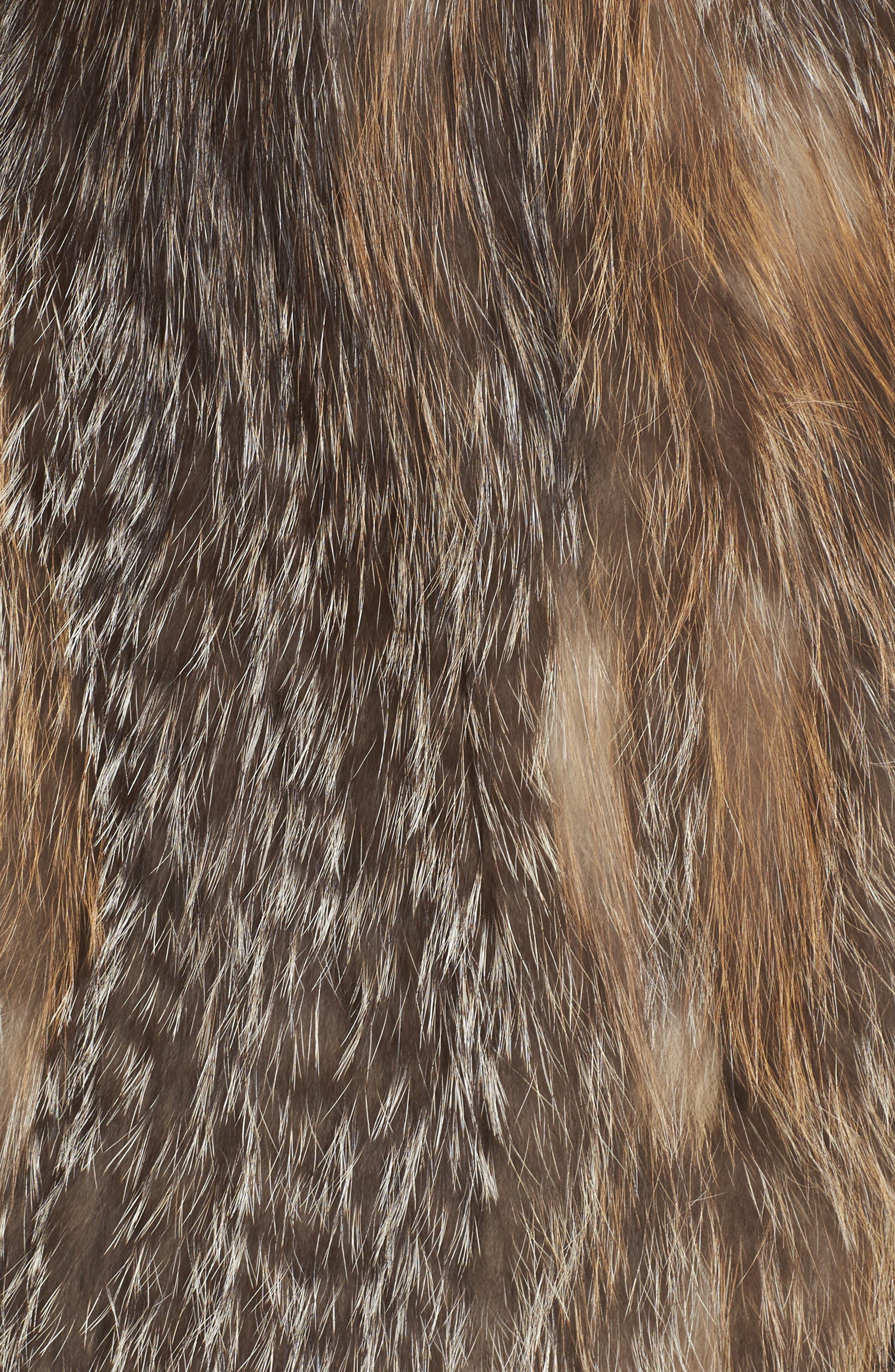 Genuine Fox Fur Vest,                             Alternate thumbnail 6, color,                             Natural Gold