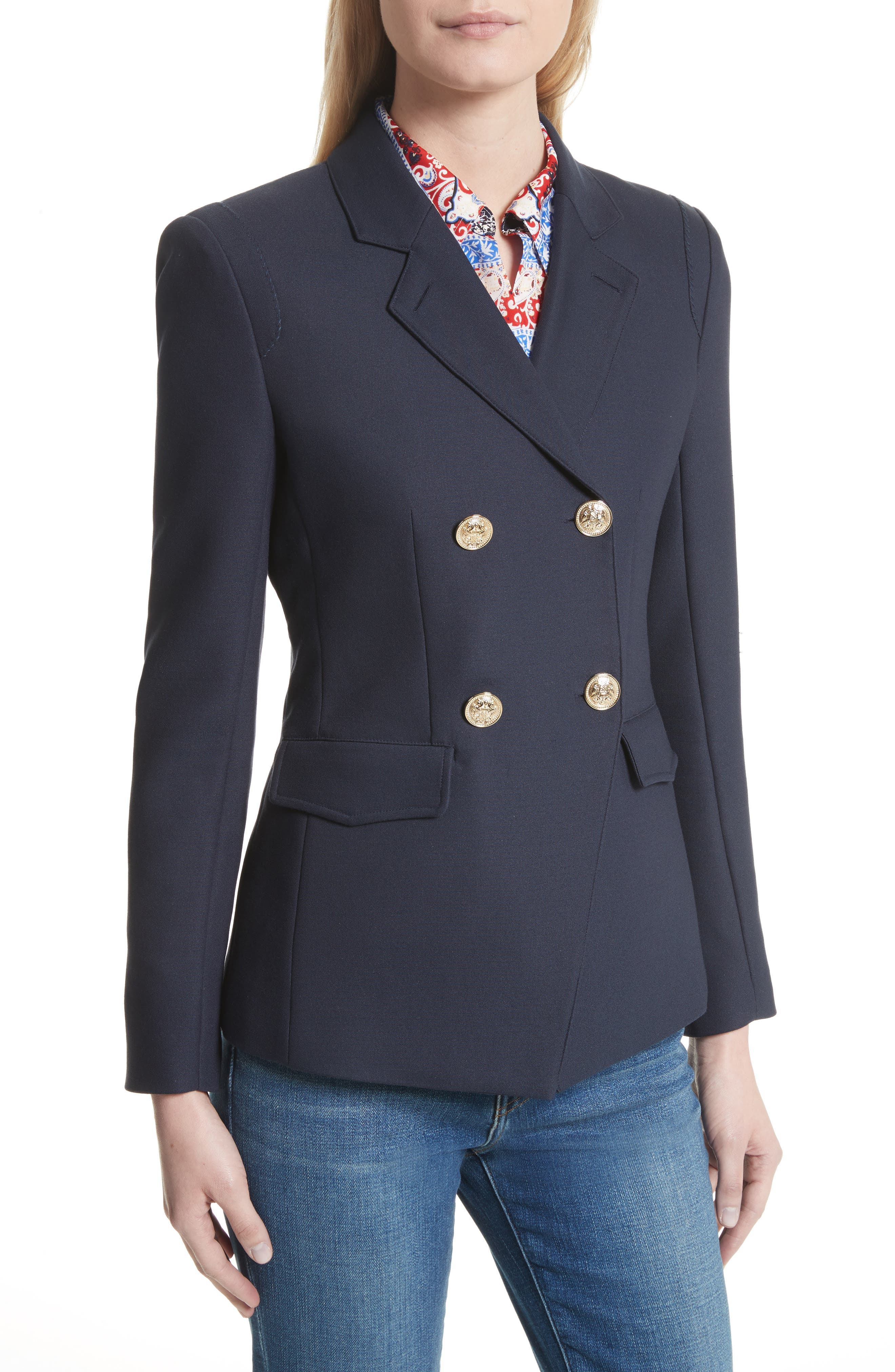 Alternate Image 5  - L'AGENCE The Marc Double Breasted Blazer