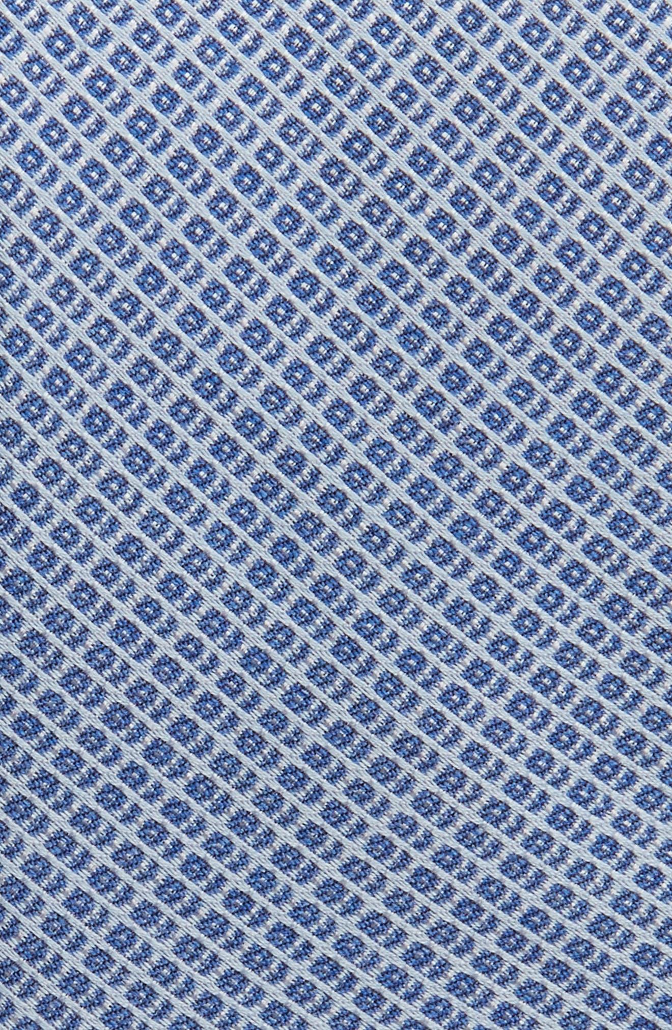 Geometric Silk Blend Tie,                             Alternate thumbnail 2, color,                             Blue